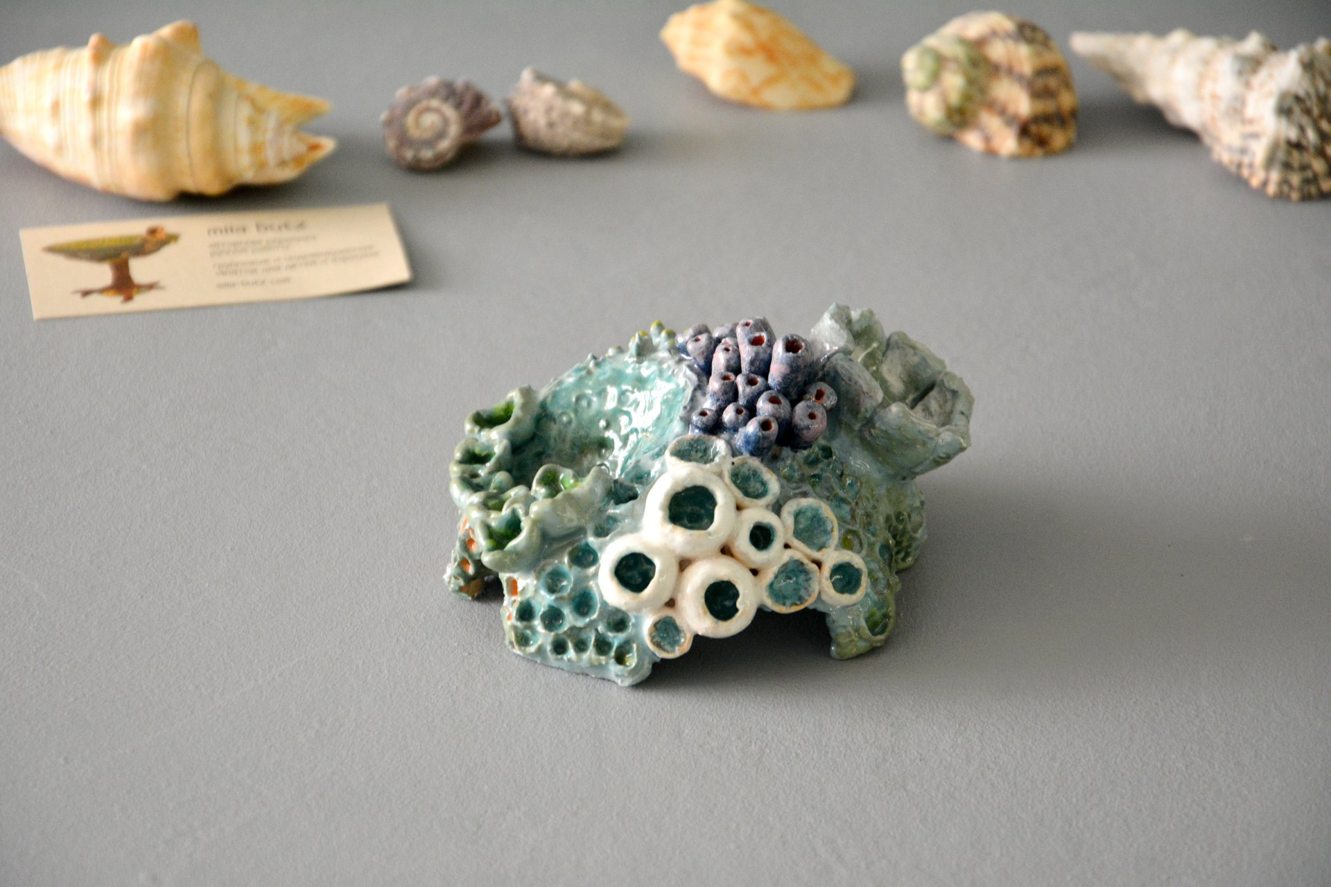 Coral IV - Ceramic for aquarium, width - 11 cm, height - 7 cm, photo 1 of 6.