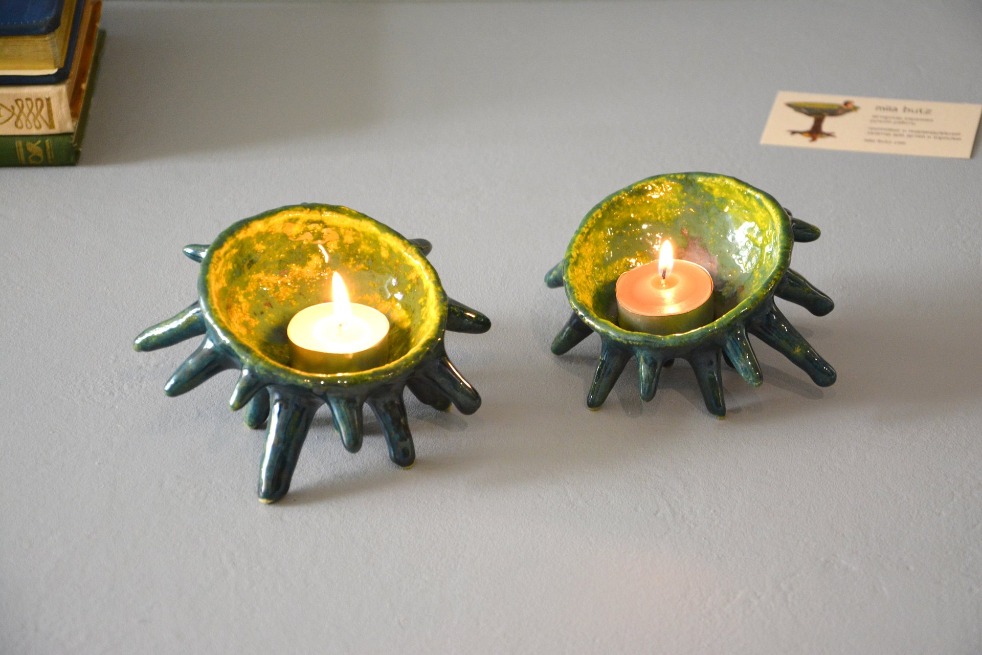 Spikes - Ceramic Candl-holders, diameter - 10 cm, photo 6 of 7.