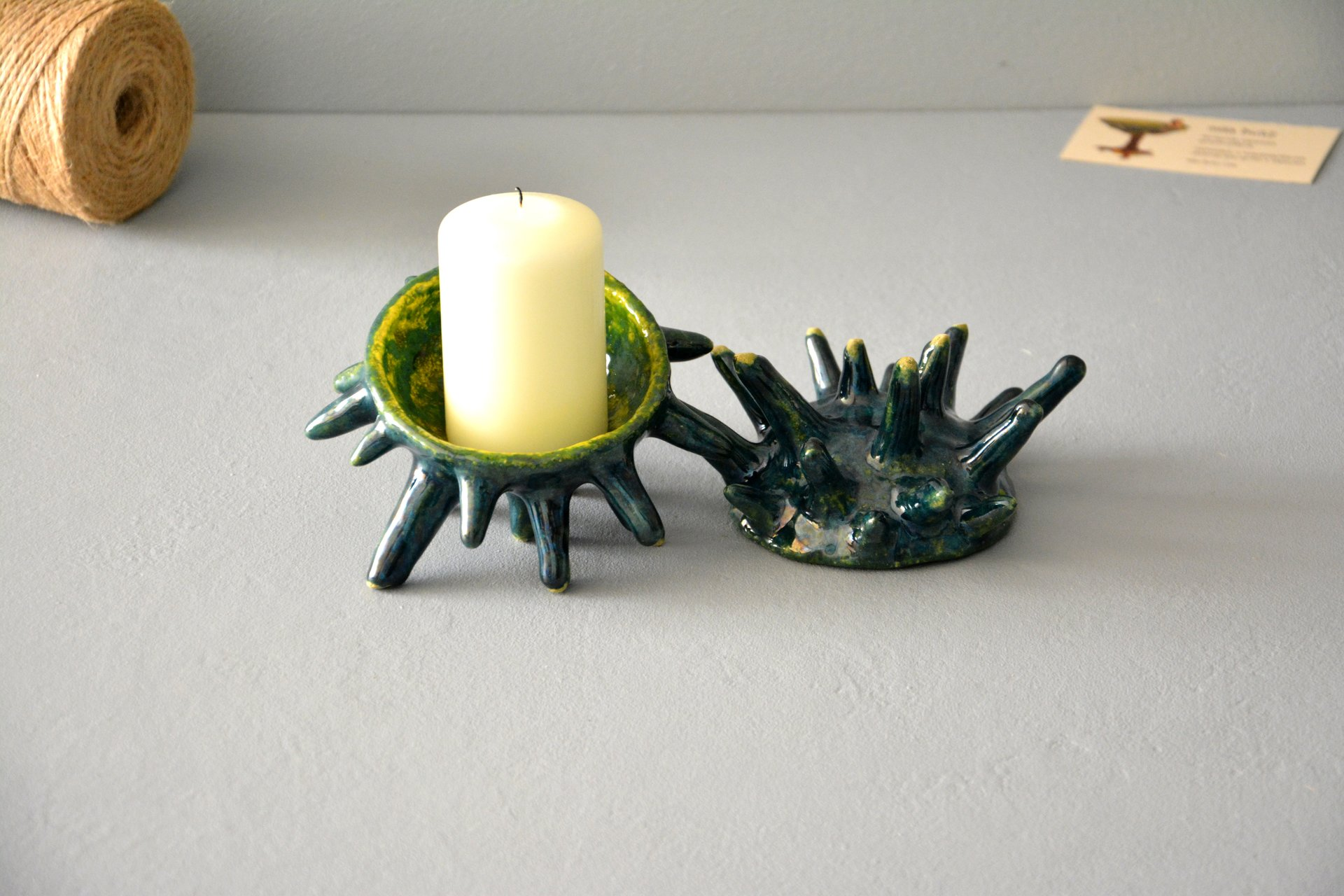 Spikes - Ceramic Candl-holders, diameter - 10 cm, photo 2 of 7.