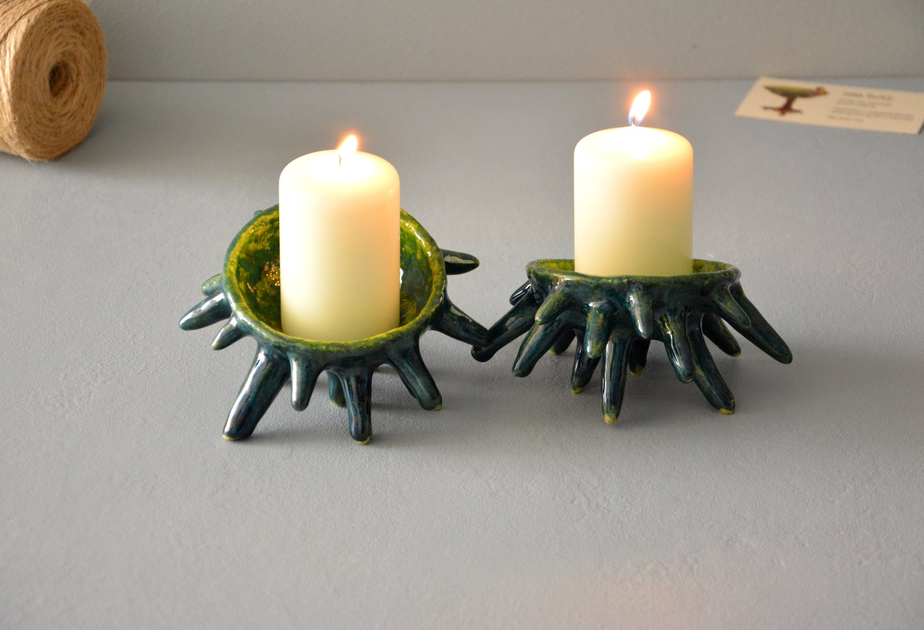Spikes - Ceramic Candl-holders, diameter - 10 cm, photo 3 of 7.