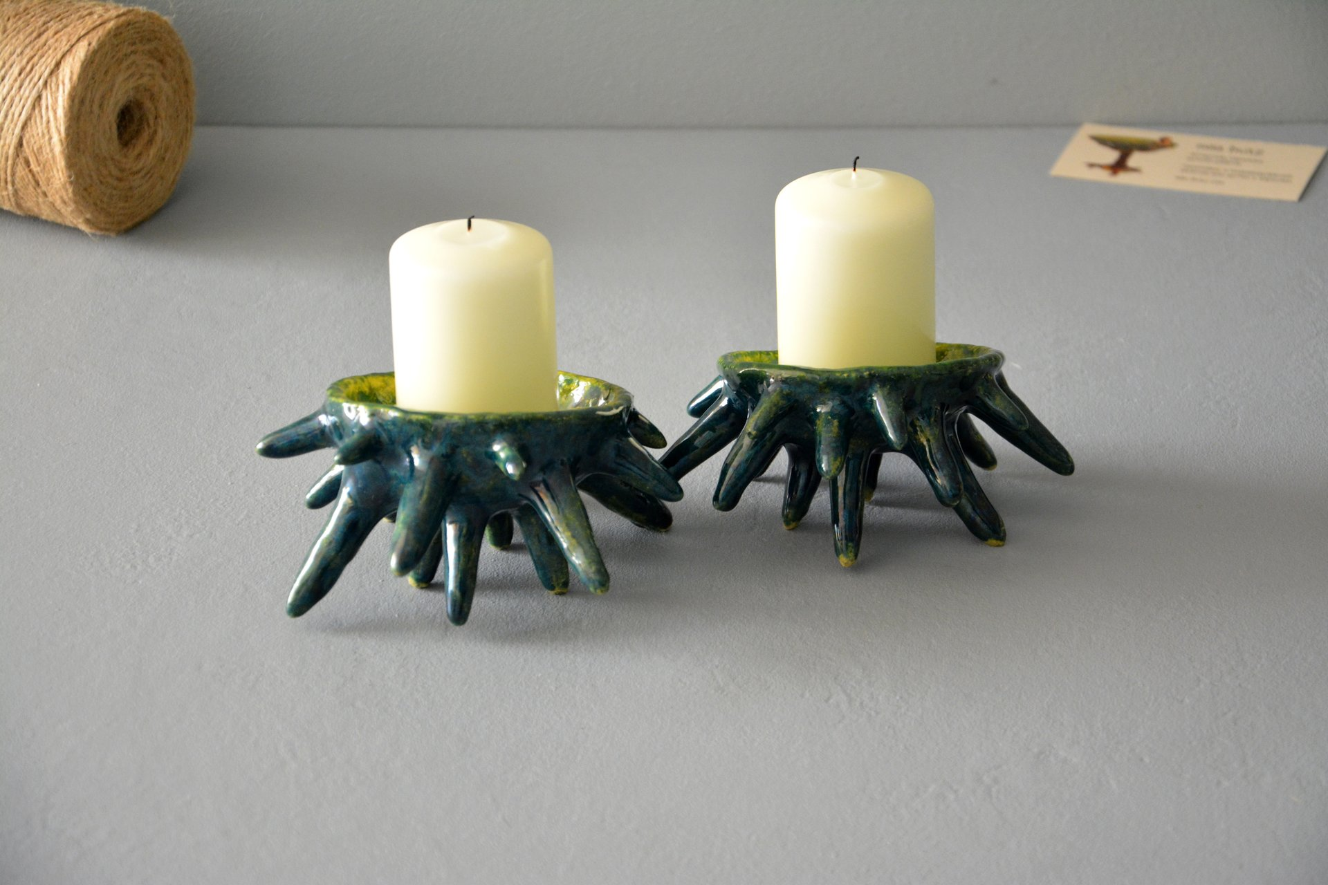 Spikes - Ceramic Candl-holders, diameter - 10 cm, photo 5 of 7.