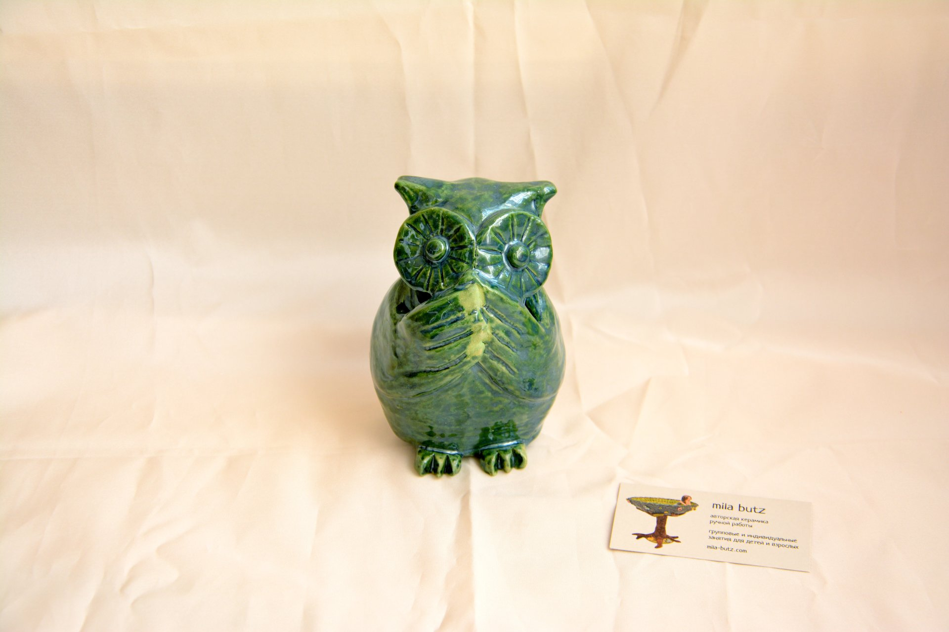 Owl «I will not say anything» - Animals and birds, height - 14cm, photo 1 of 4.