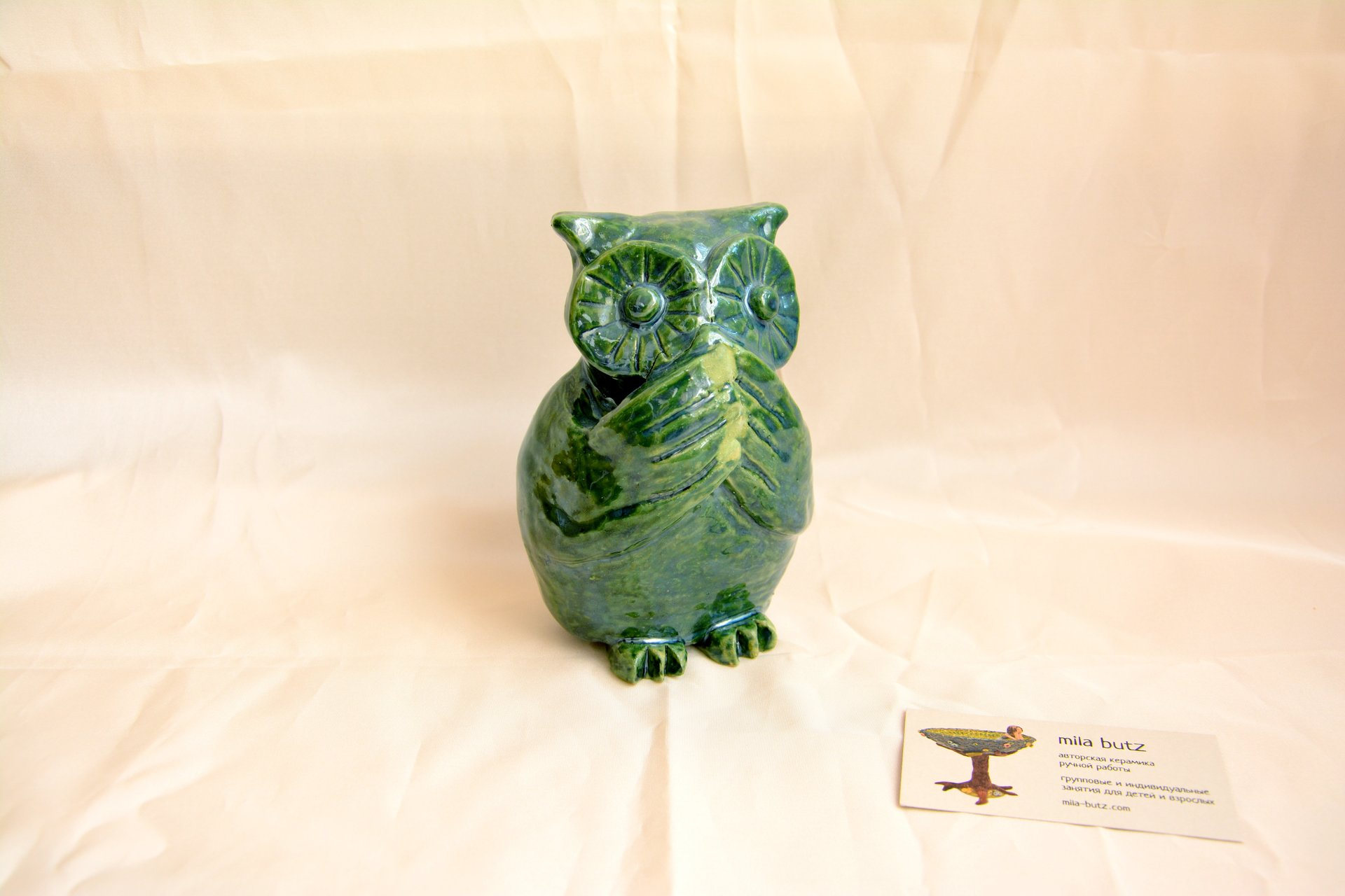 Owl «I will not say anything» - Animals and birds, height - 14cm, photo 2 of 4.