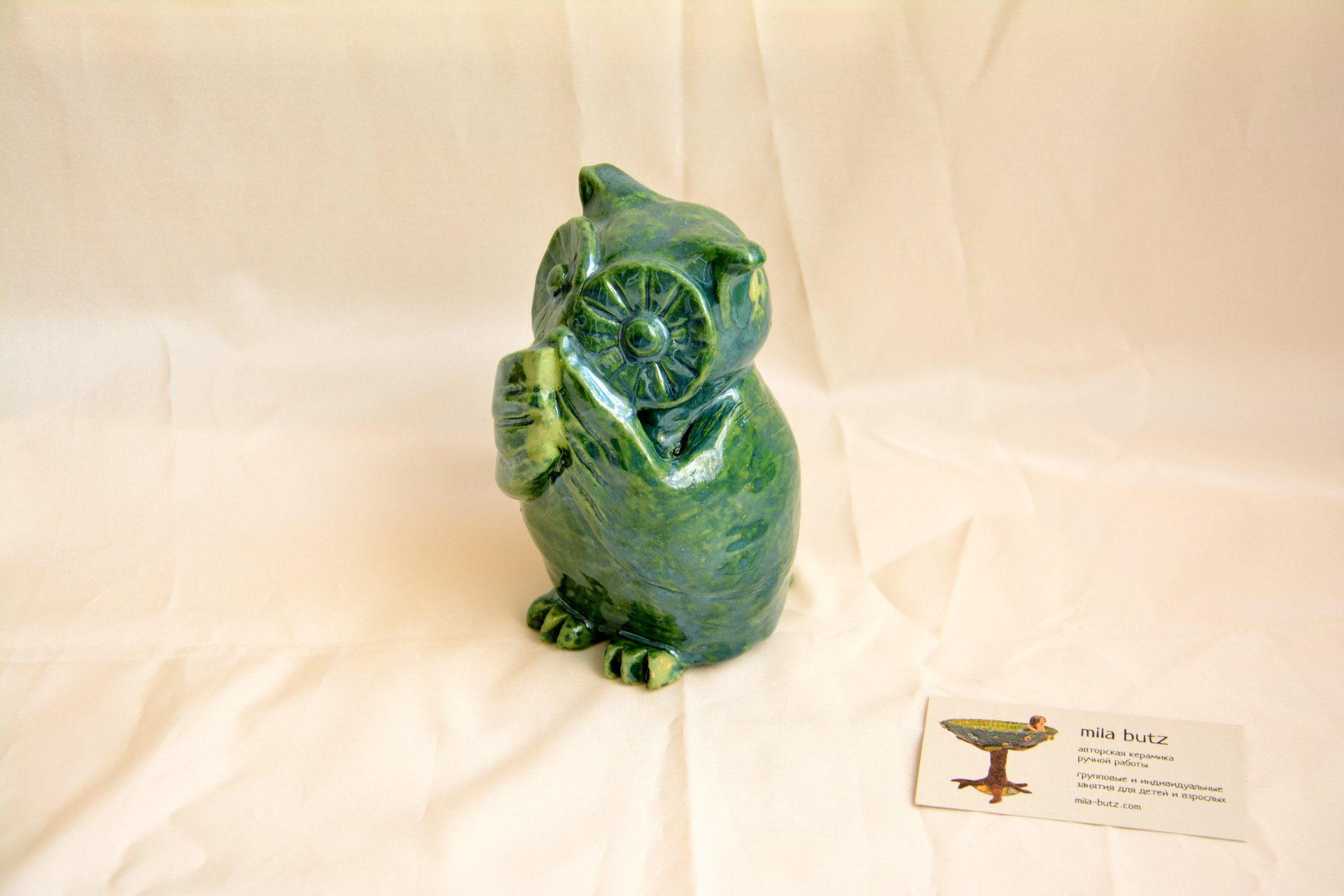 Owl «I will not say anything» - Animals and birds, height - 14cm, photo 3 of 4.