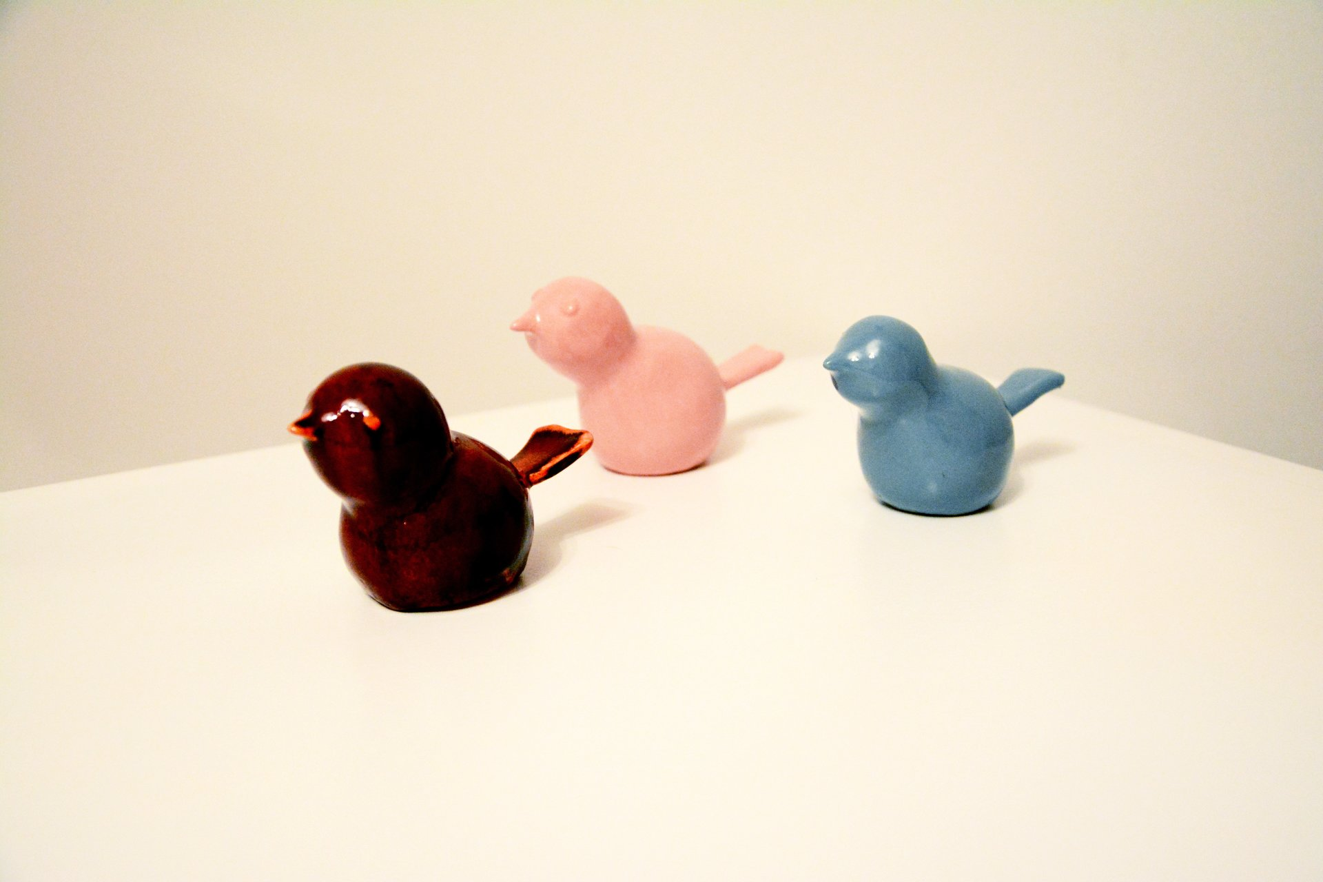 Trio Birds - Animals and birds, height - 5 cm, photo 1 of 2.