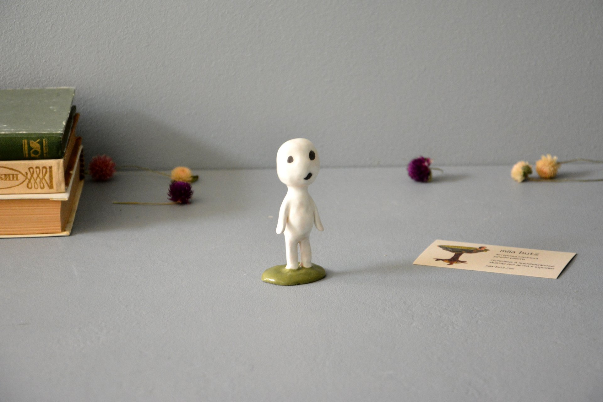 A figurine of the whispering Kodama tree spirit, height - 8.5 cm, photo 1 of 4.