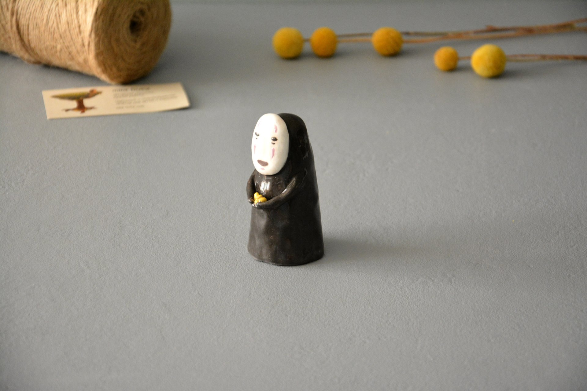 No-Face Kaonashi figurine, height - 8,5 cm, photo 4 of 5.