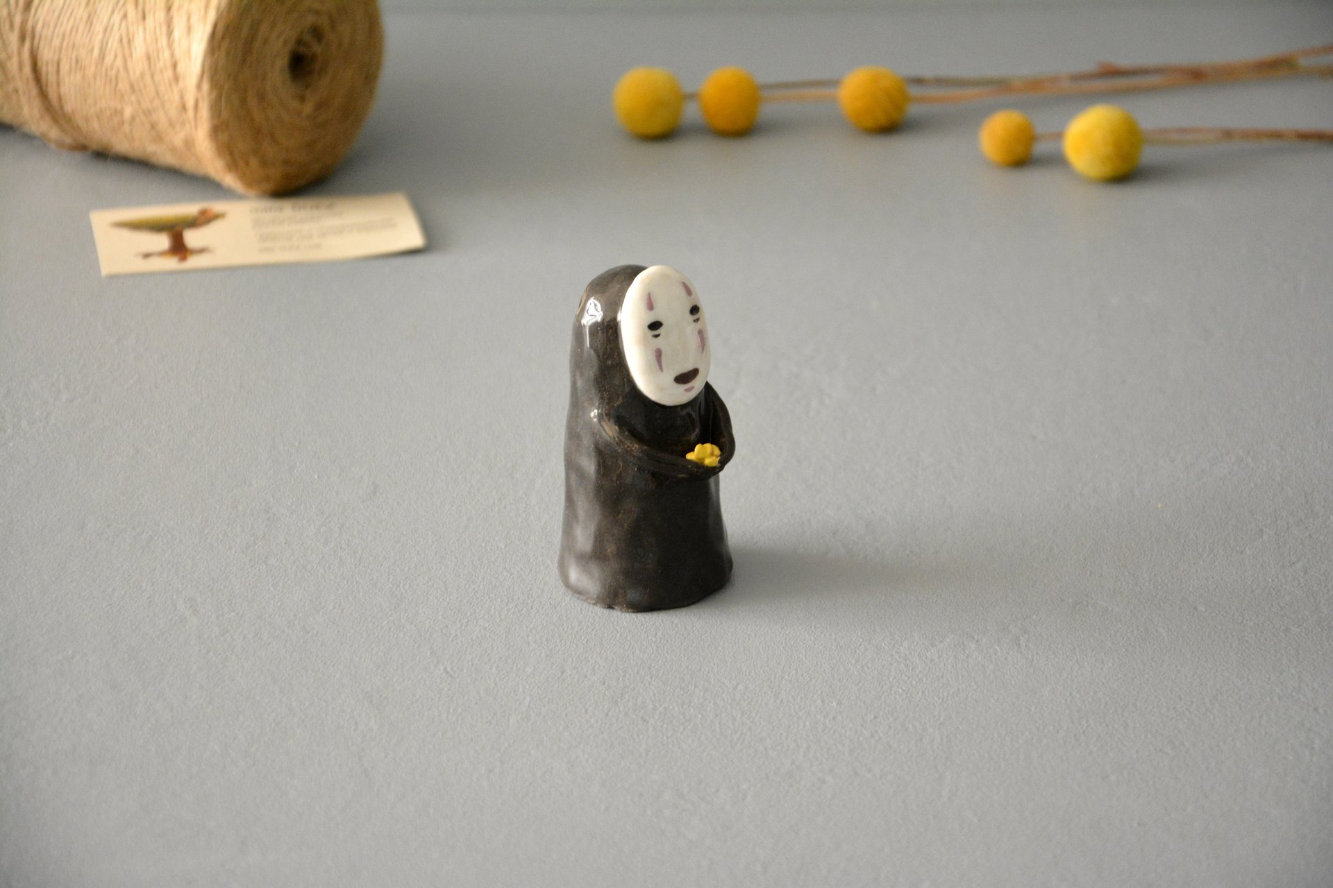 No-Face Kaonashi figurine, height - 8,5 cm, photo 2 of 5.