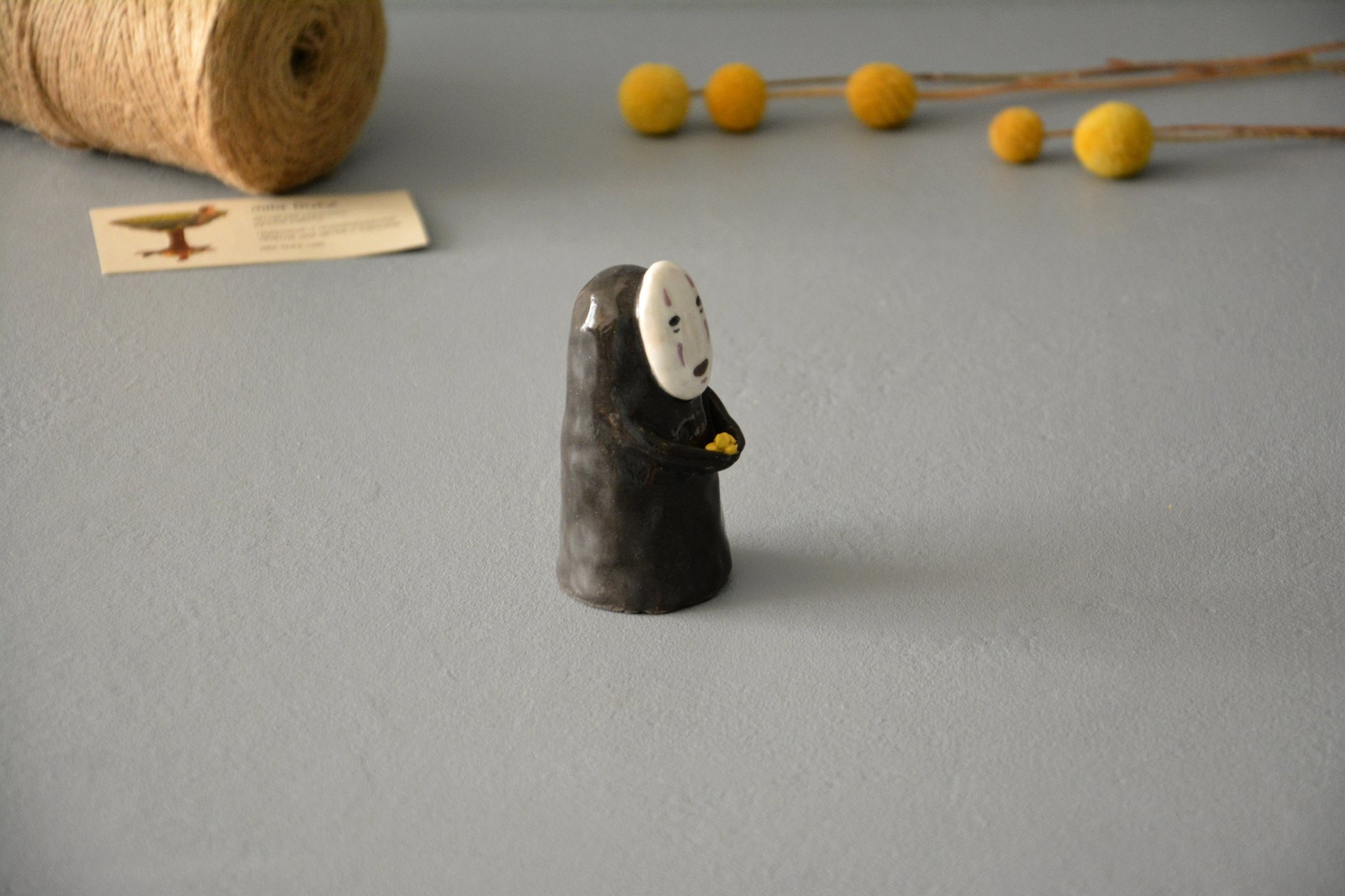 No-Face Kaonashi figurine, height - 8,5 cm, photo 3 of 5.