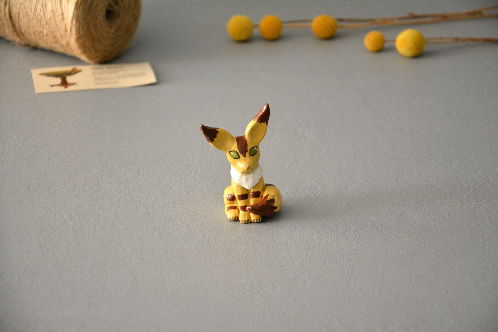 "Squirrel-fox figurine, a character from the anime ""Navsikai from the valley of the winds, height 7cm, photo 1 of 6."