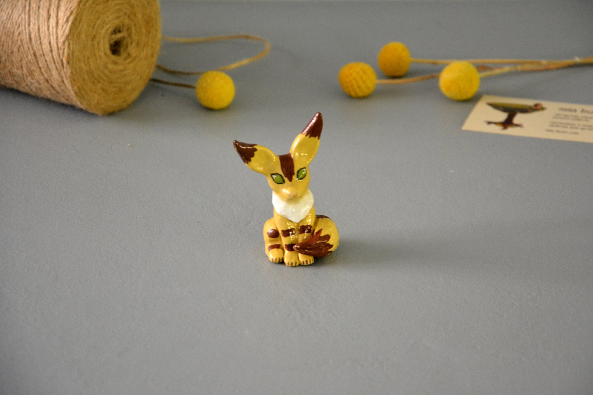 "Squirrel-fox figurine, a character from the anime ""Navsikai from the valley of the winds, height 7cm, photo 6 of 6."
