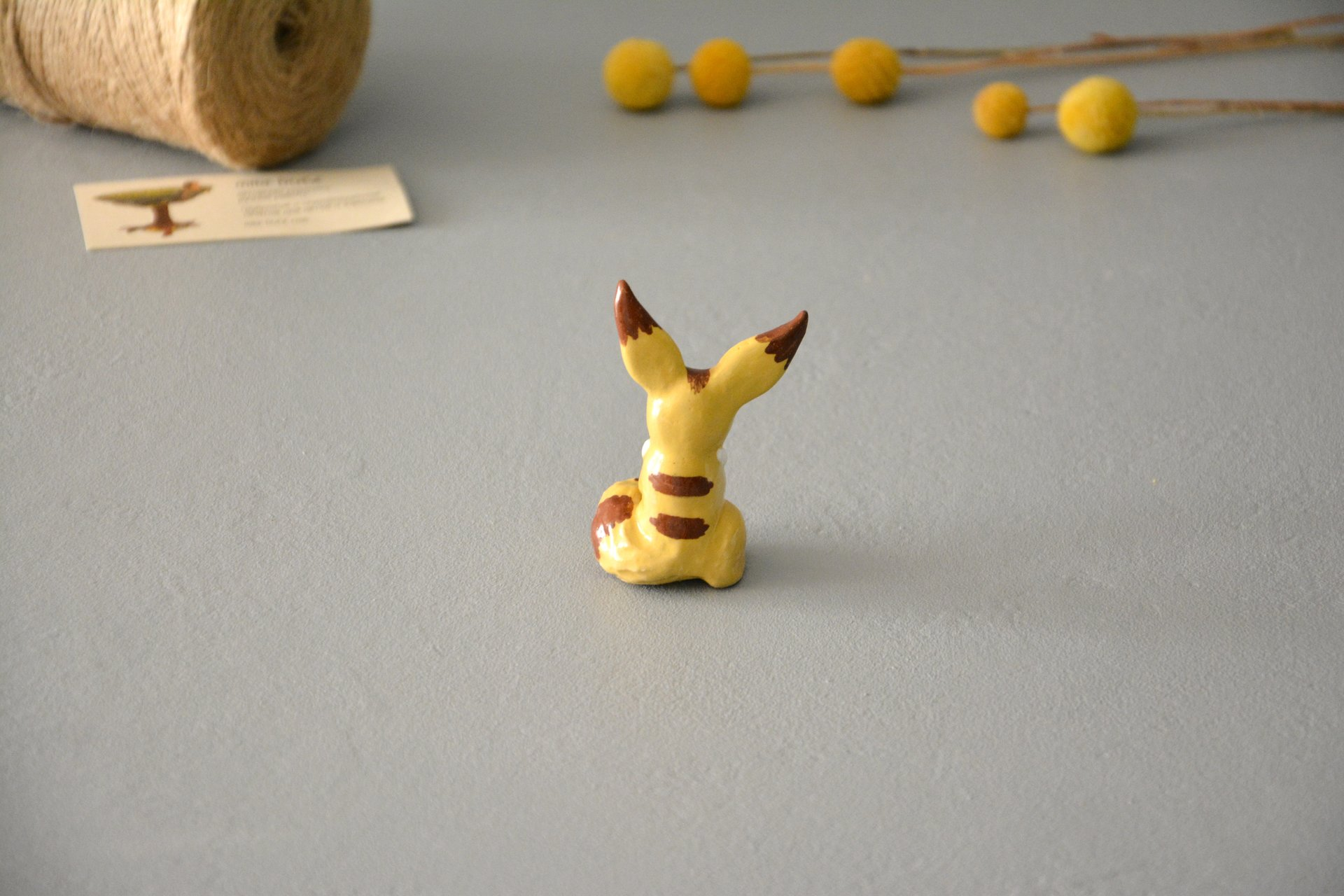 "Squirrel-fox figurine, a character from the anime ""Navsikai from the valley of the winds, height 7cm, photo 3 of 6."