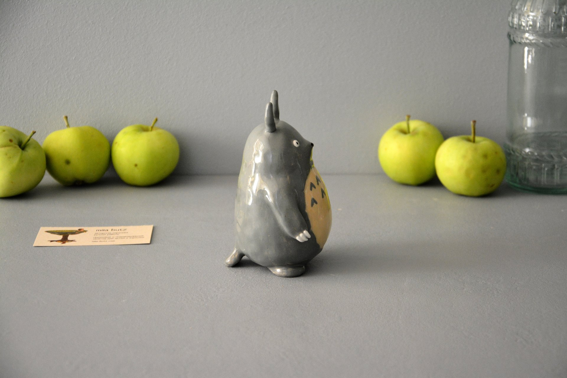 Ceramic figurine Totoro, height - 13 cm, photo 3 of 6.