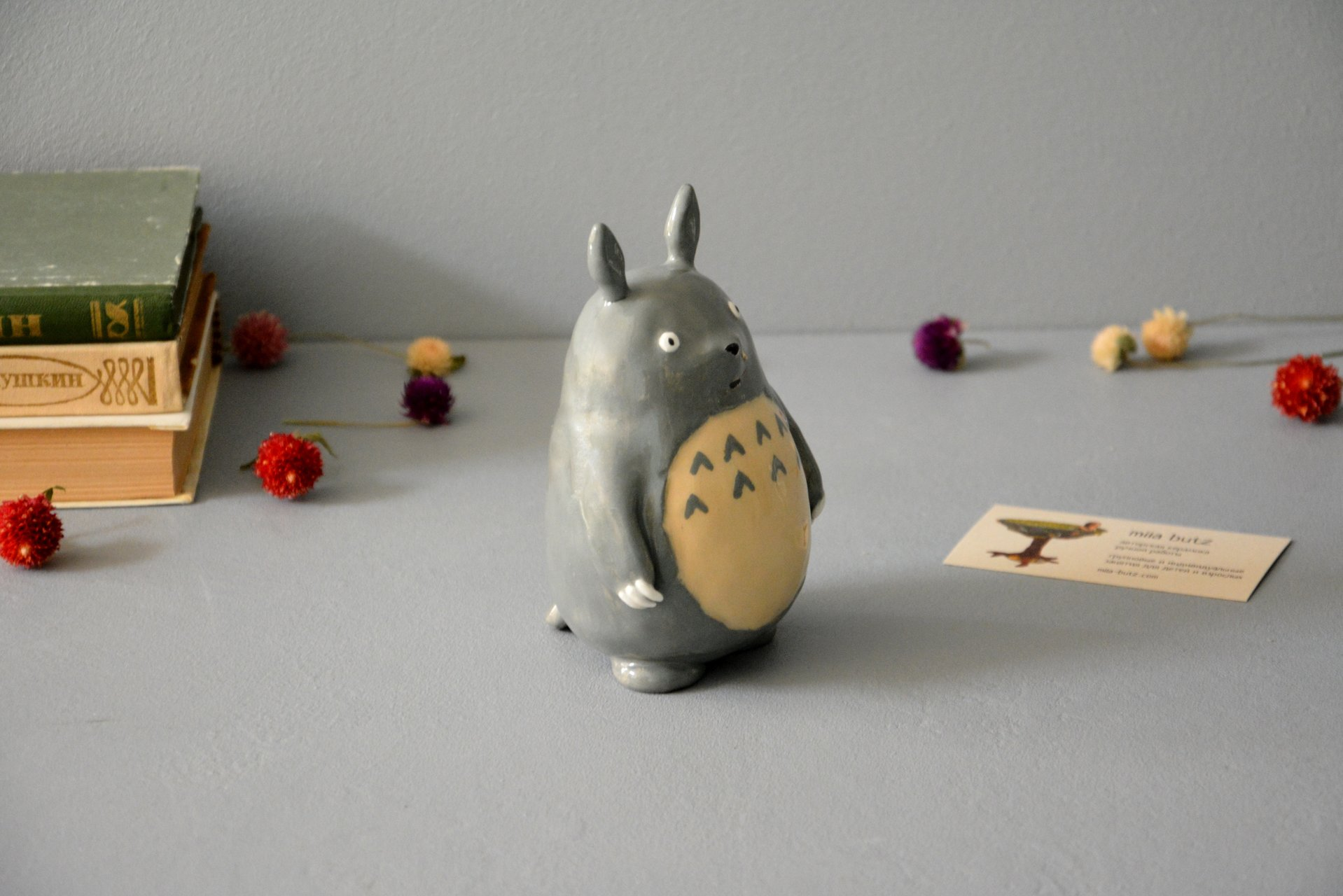 Ceramic figurine Totoro, height - 13 cm, photo 2 of 6.