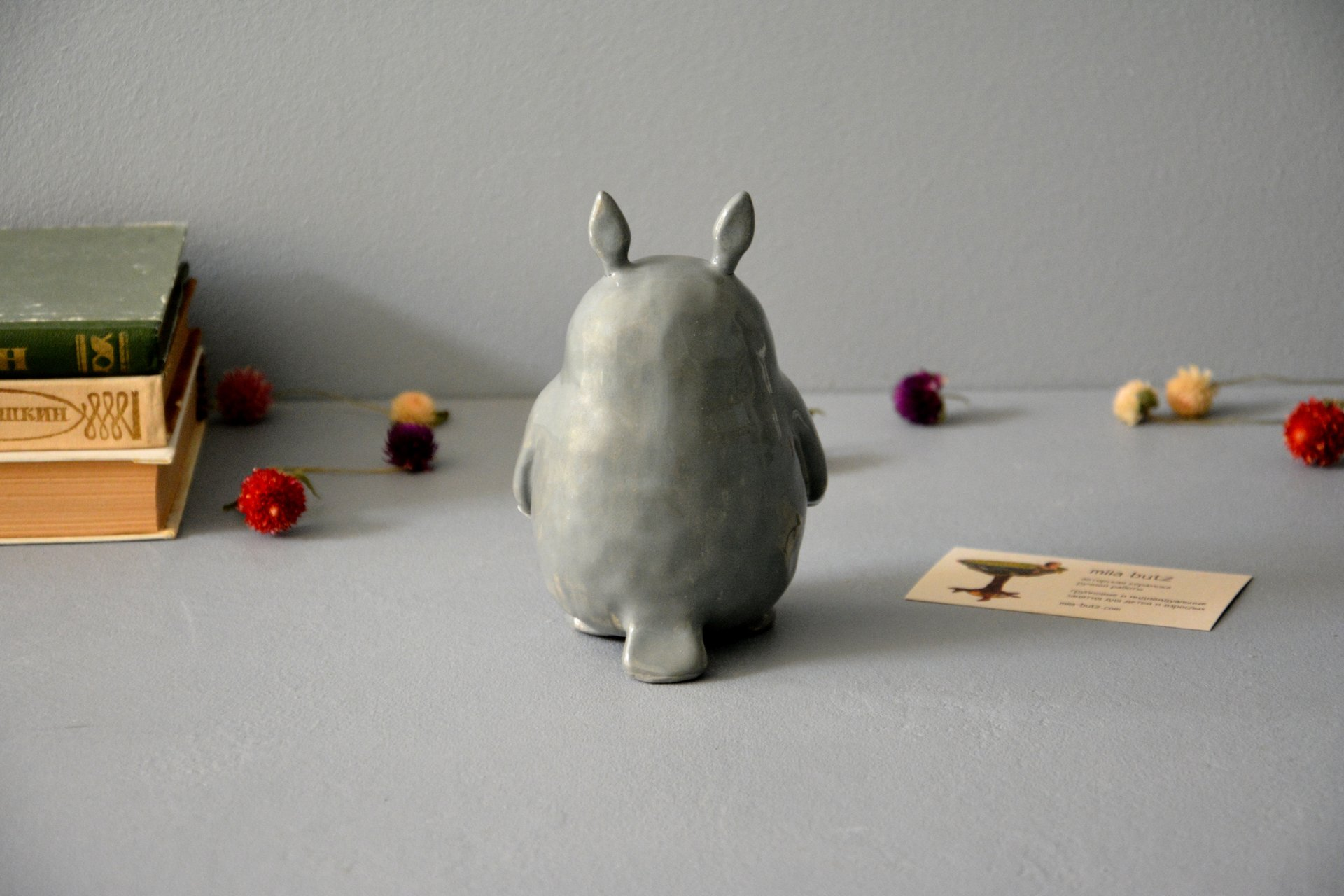 Ceramic figurine Totoro, height - 13 cm, photo 6 of 6.