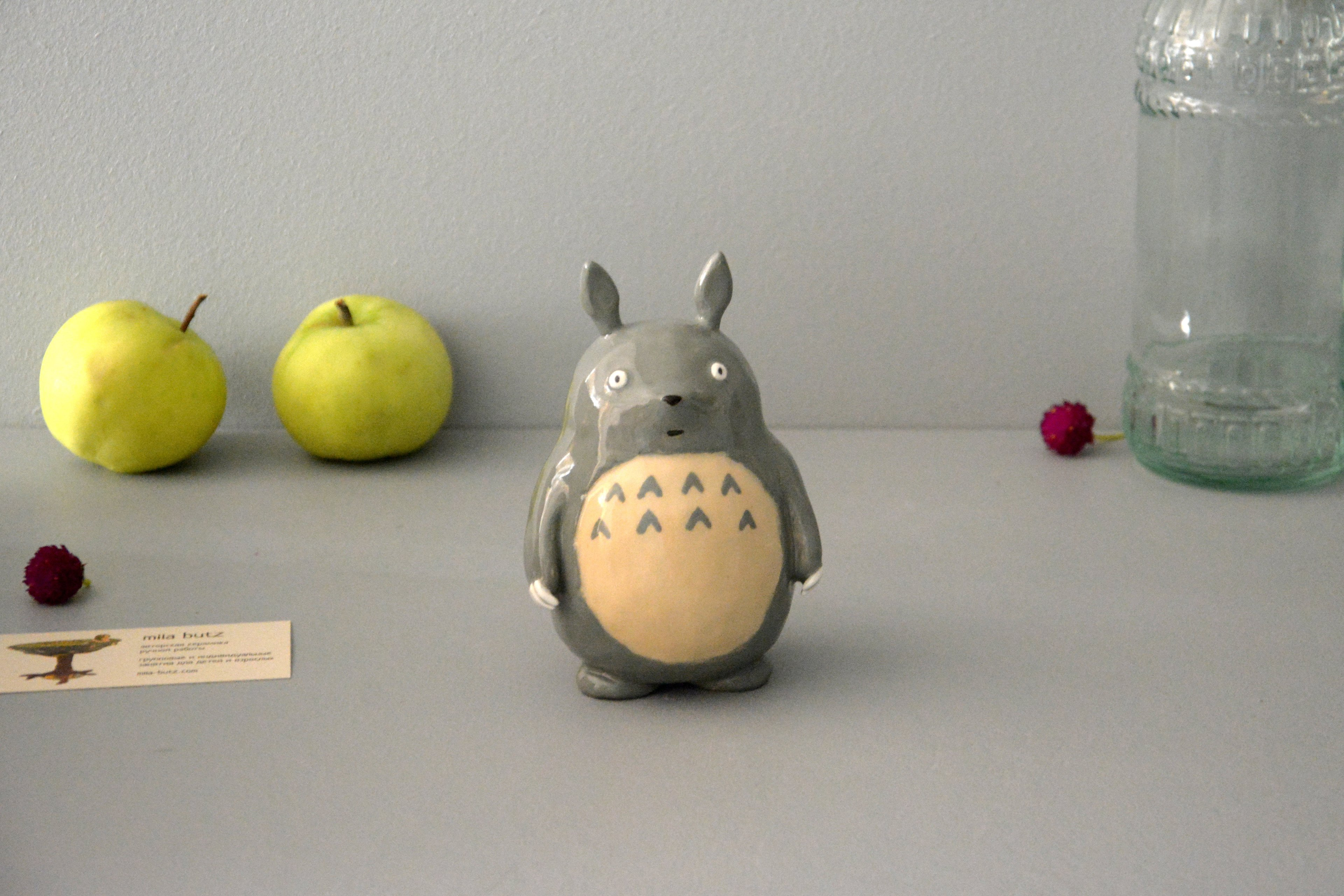 Ceramic figurine Totoro, height - 13 cm, photo 4 of 6.