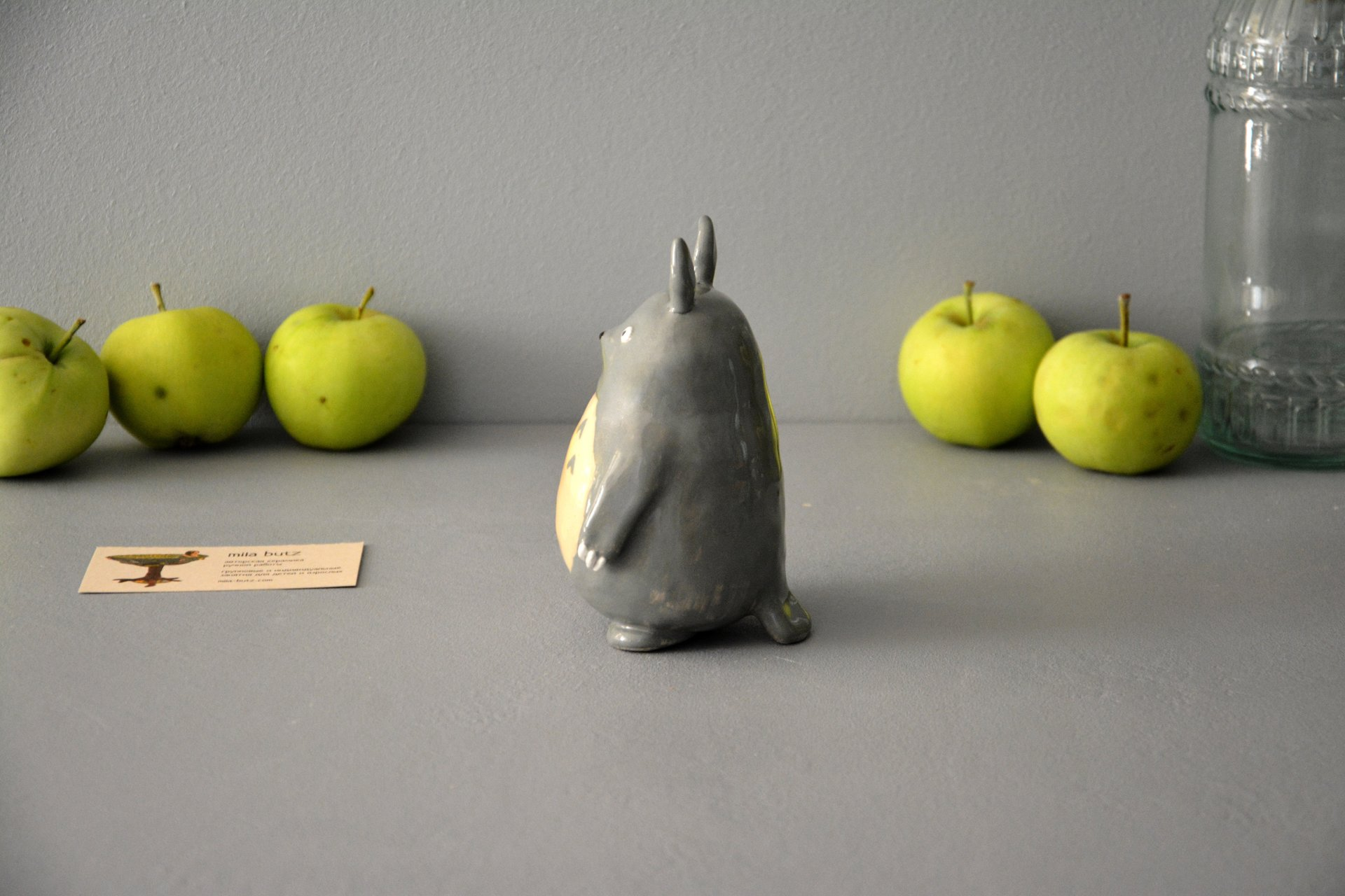 Ceramic figurine Totoro, height - 13 cm, photo 5 of 6.
