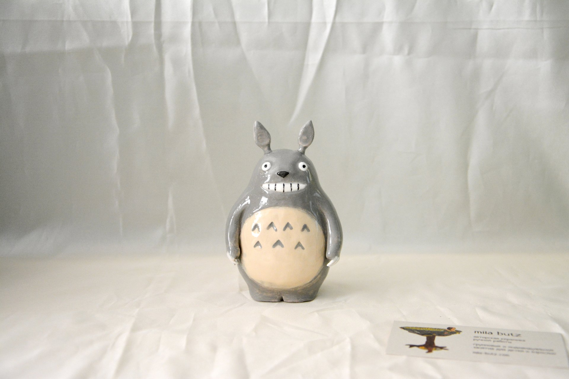 Ceramic figurine Totoro, height - 11 cm, photo 1 of 5.