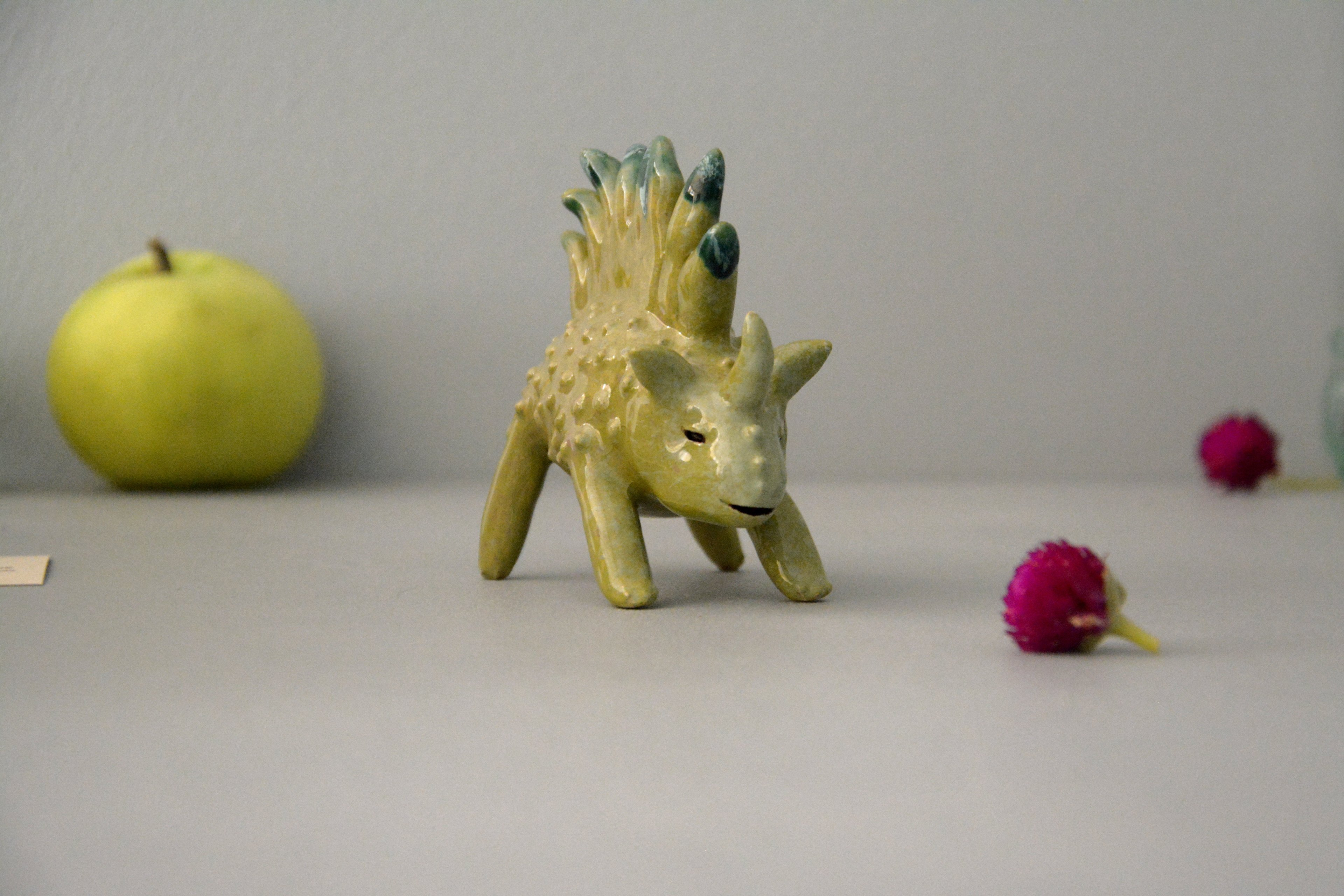 Grassosaur - Ceramic fantastic creatures, height - 6 cm, photo 1 of 6.