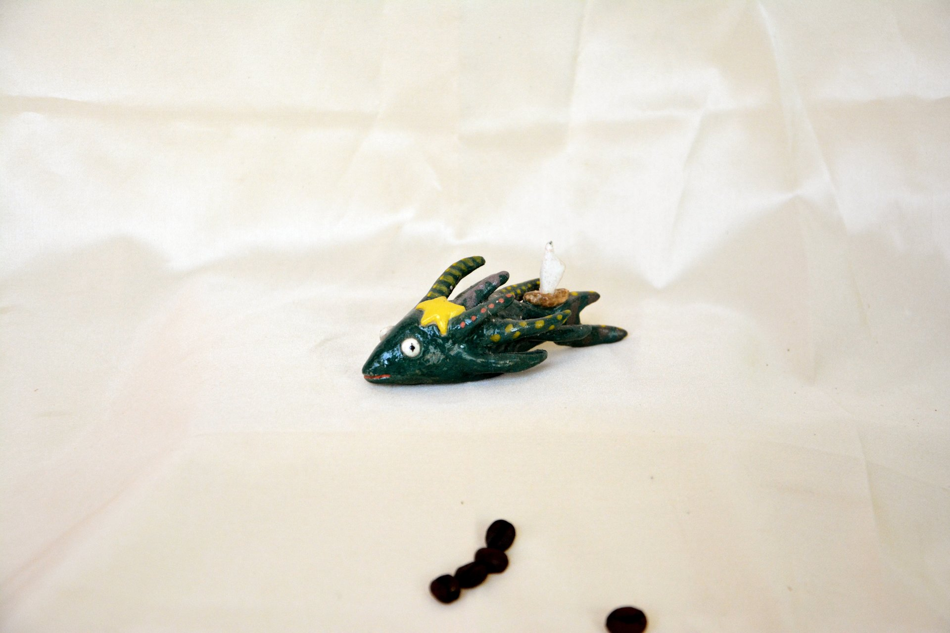 Sea spirit - Ceramic fantastic creatures, length - 10 cm, height - 3.5 cm, photo 1 of 2.