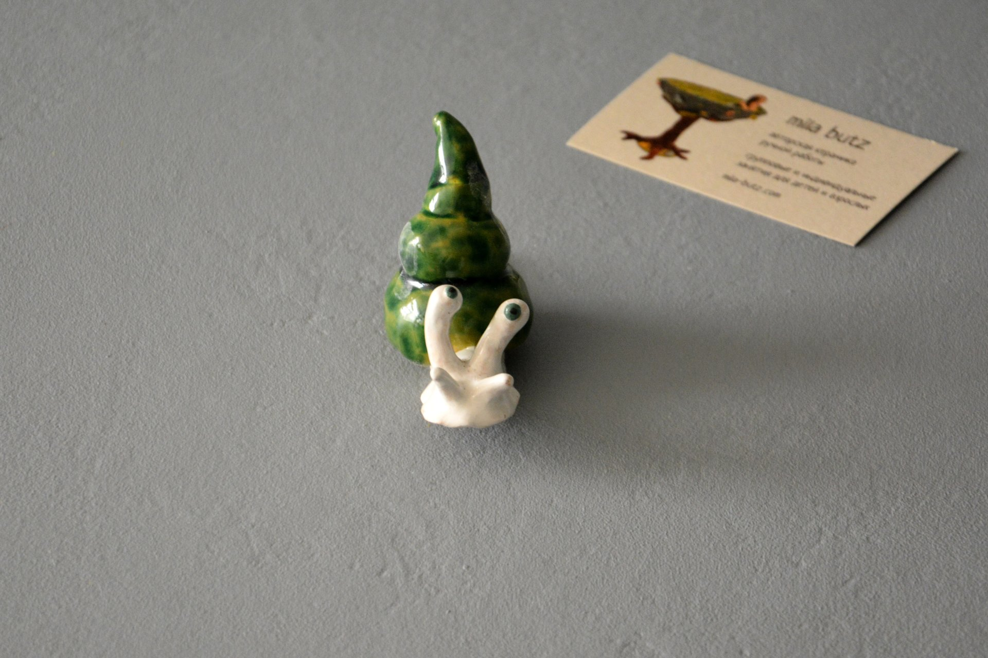Figurine of a garden Cochlea, height - 3 cm, photo 2 of 6.