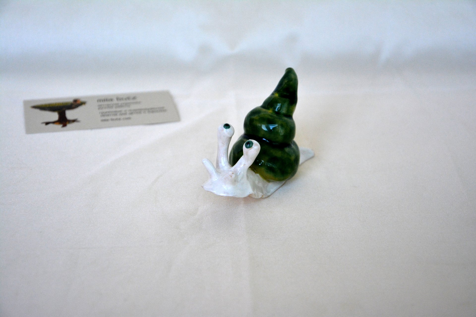 Figurine of a garden Cochlea, height - 3 cm, photo 6 of 6.