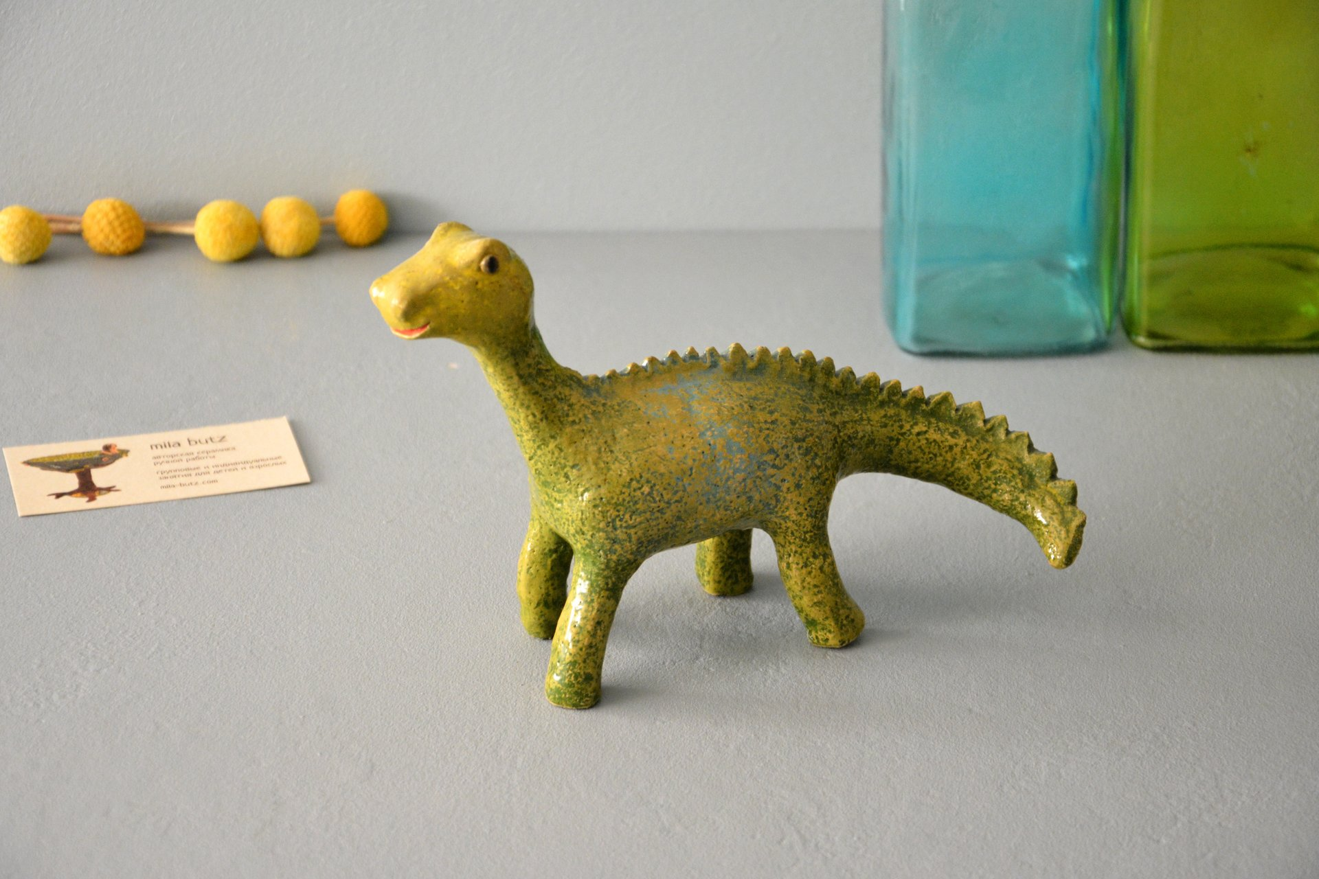 Dino - Ceramic other figures, height - 20 cm, photo 2 of 5.