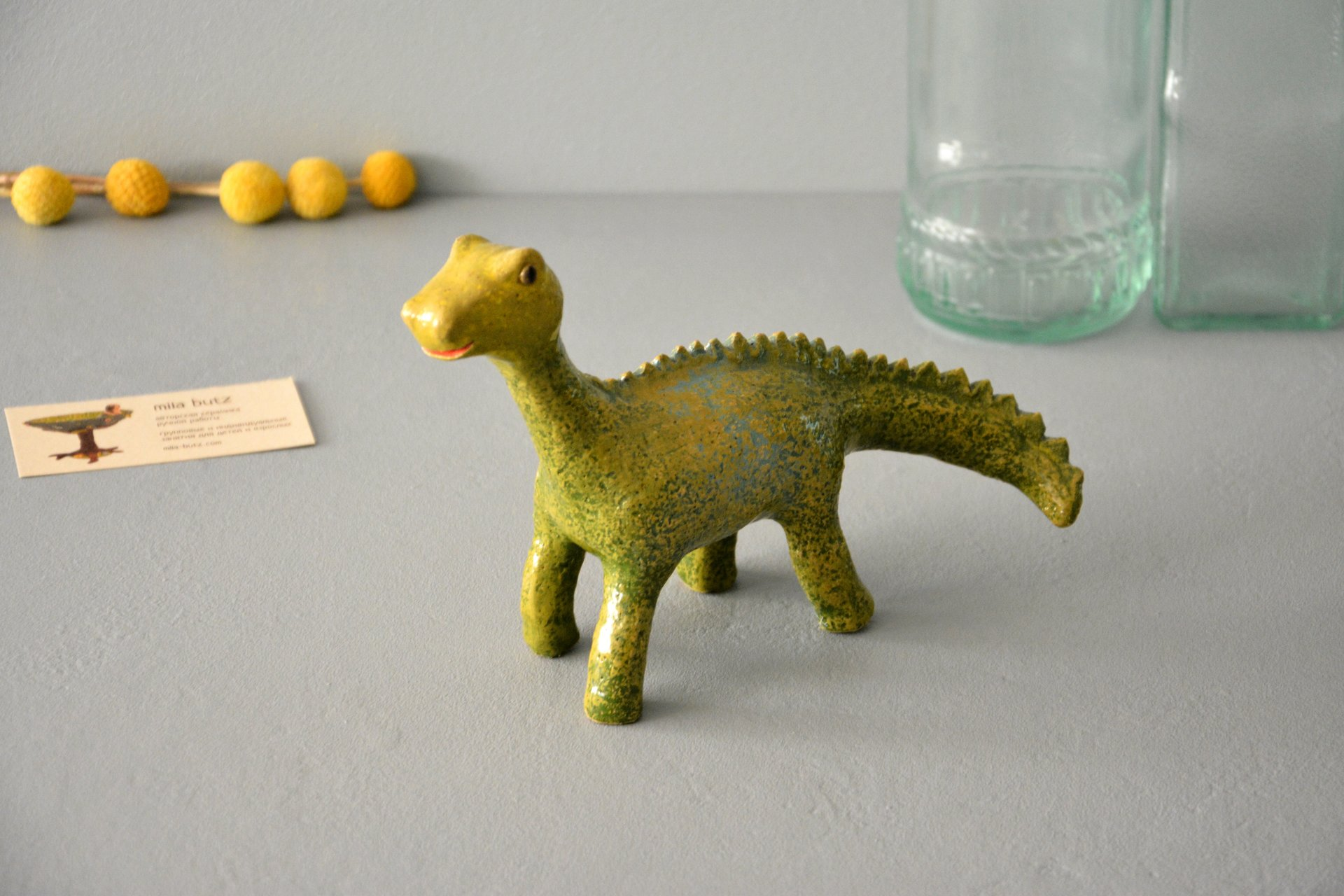 Dino - Ceramic other figures, height - 20 cm, photo 1 of 5.