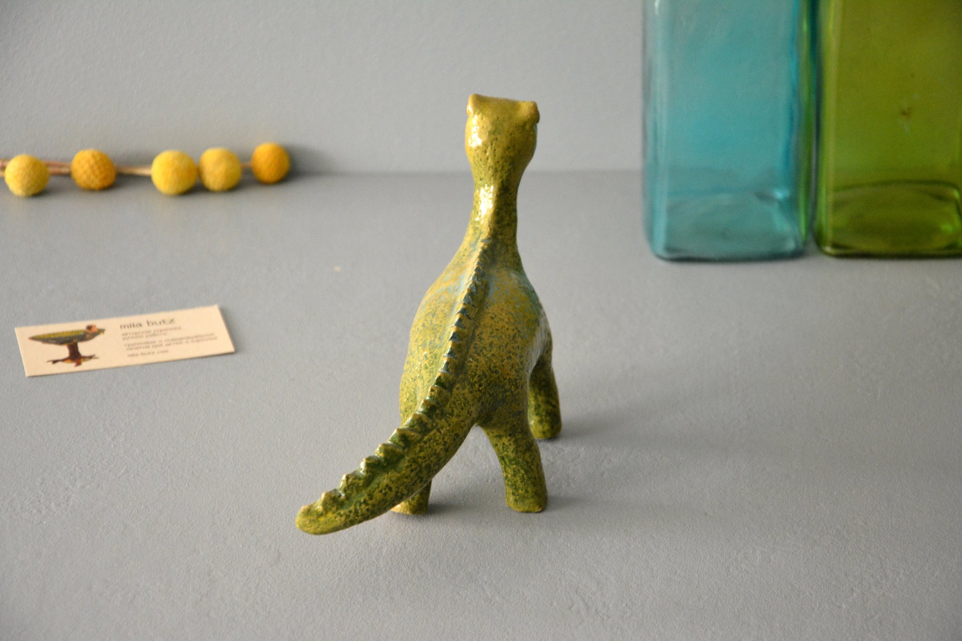 Dino - Ceramic other figures, height - 20 cm, photo 3 of 5.