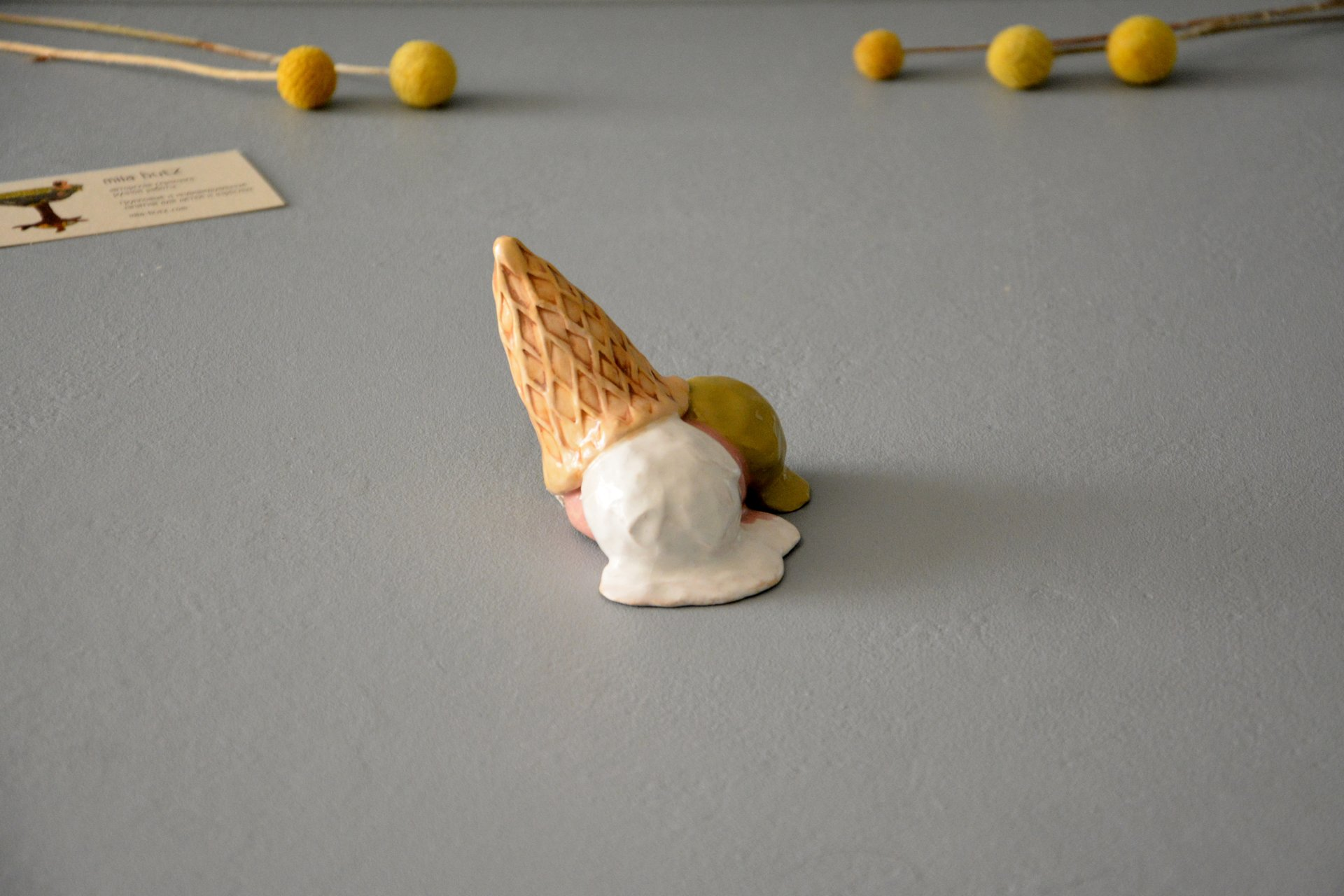 Fallen Ice Cream - Ceramic other figures, height - 5 cm, photo 3 of 4.