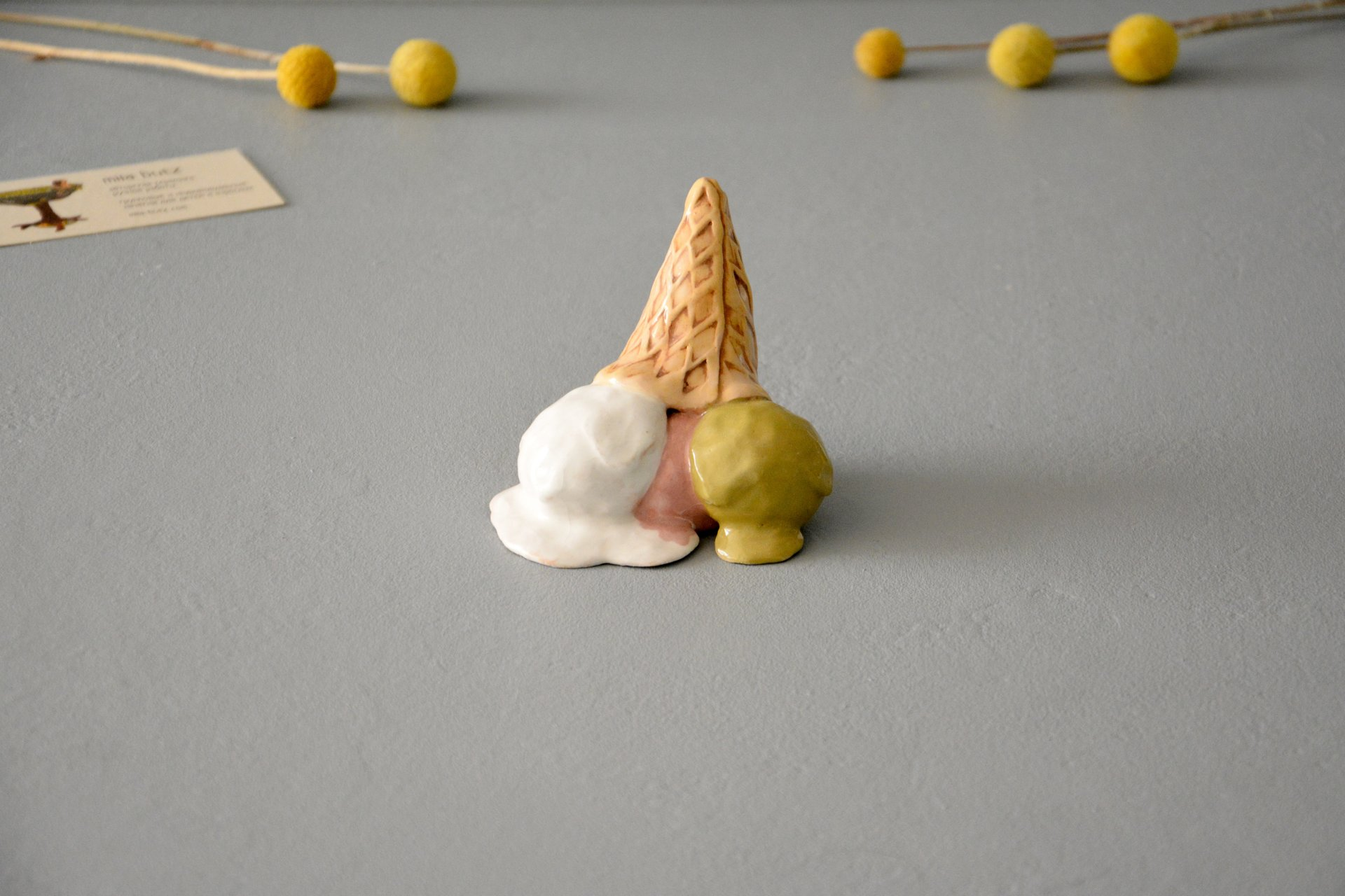 Fallen Ice Cream - Ceramic other figures, height - 5 cm, photo 1 of 4.