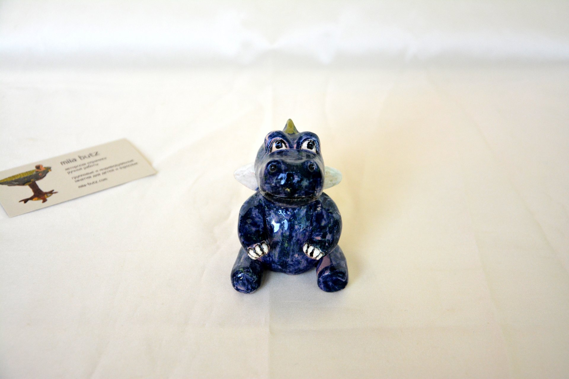 Little Dragon - Ceramic other figures, height - 8 cm, photo 3 of 3.