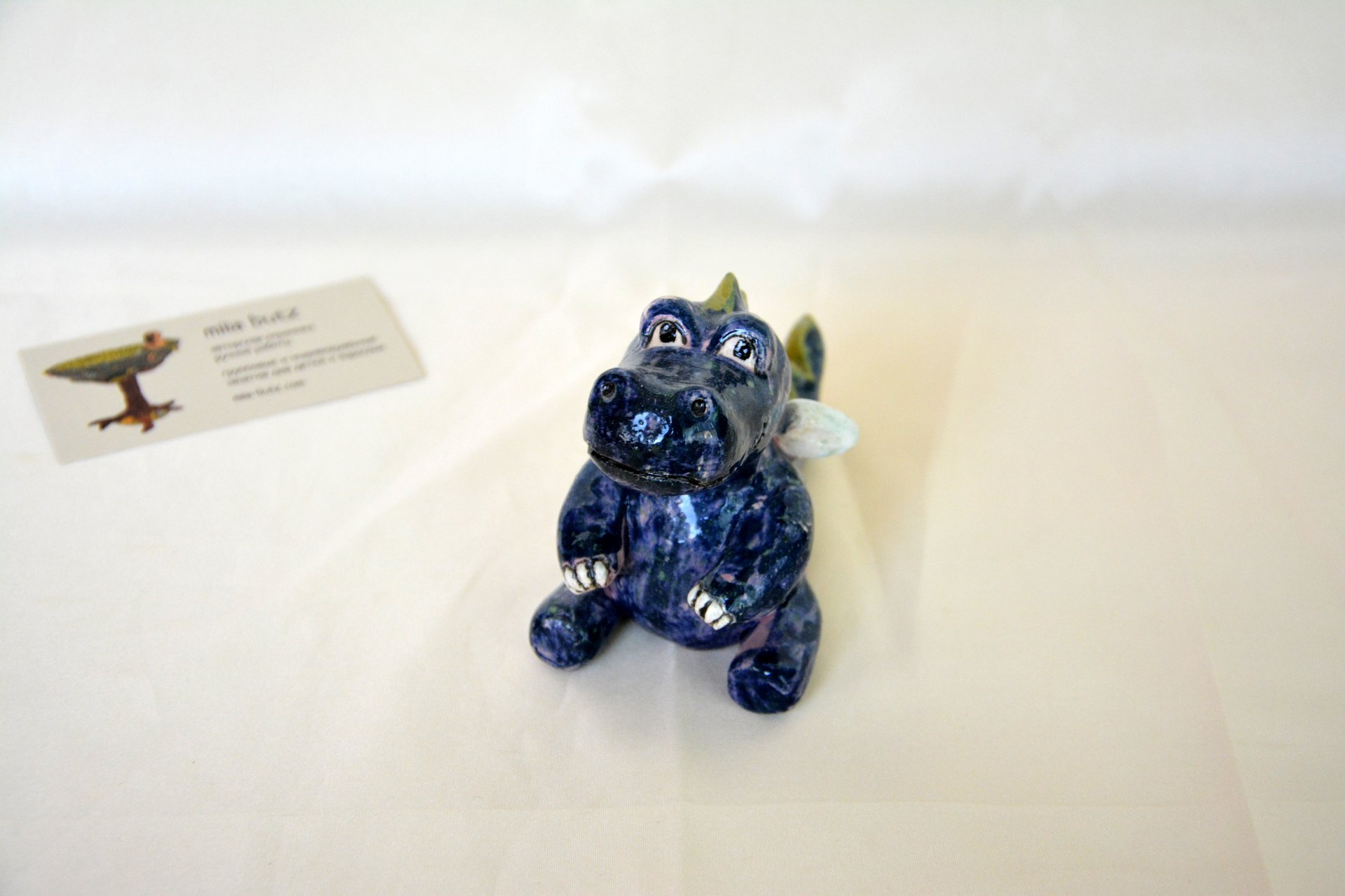 Little Dragon - Ceramic other figures, height - 8 cm, photo 2 of 3.
