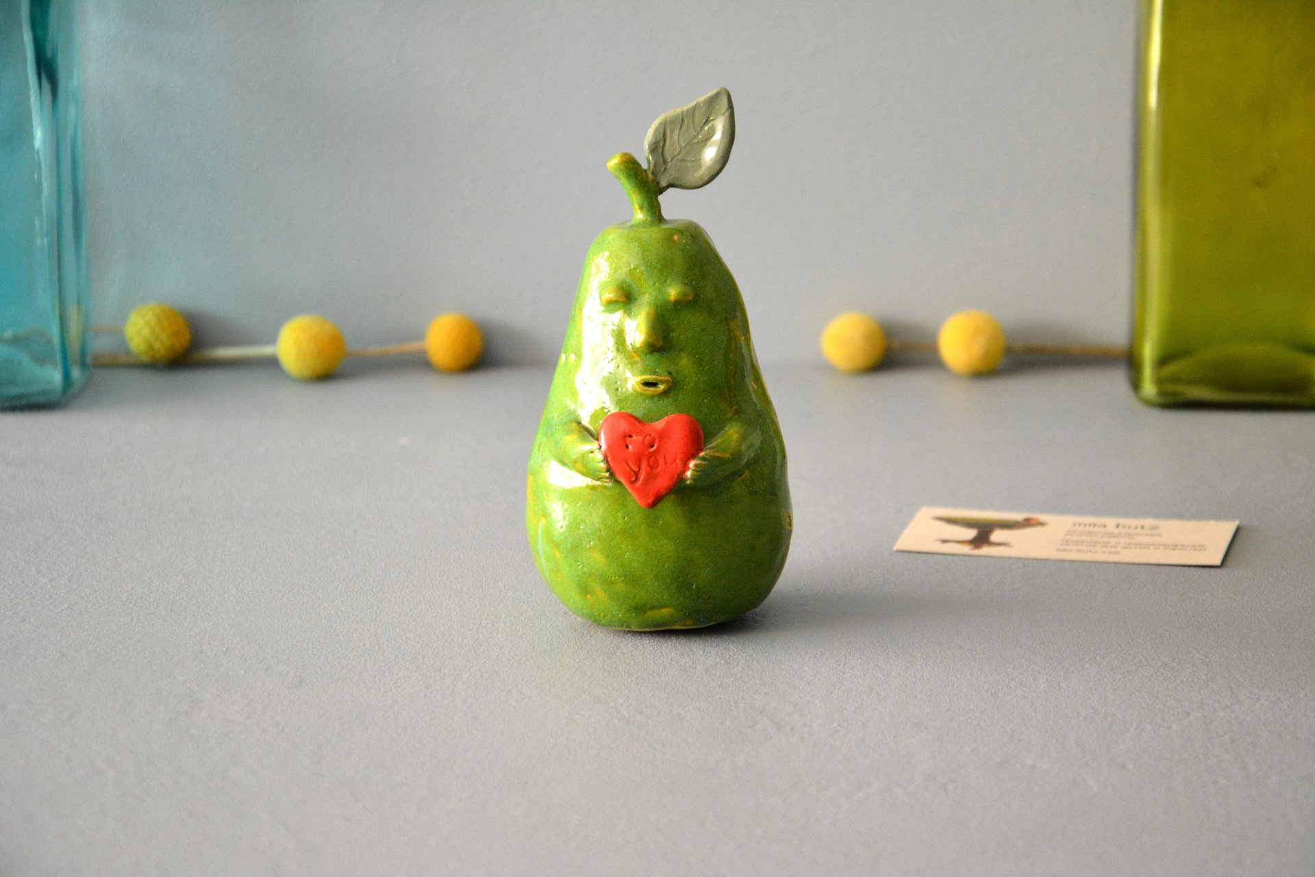Pear with Love - Ceramic other figures, height - 12 cm, photo 1 of 5.