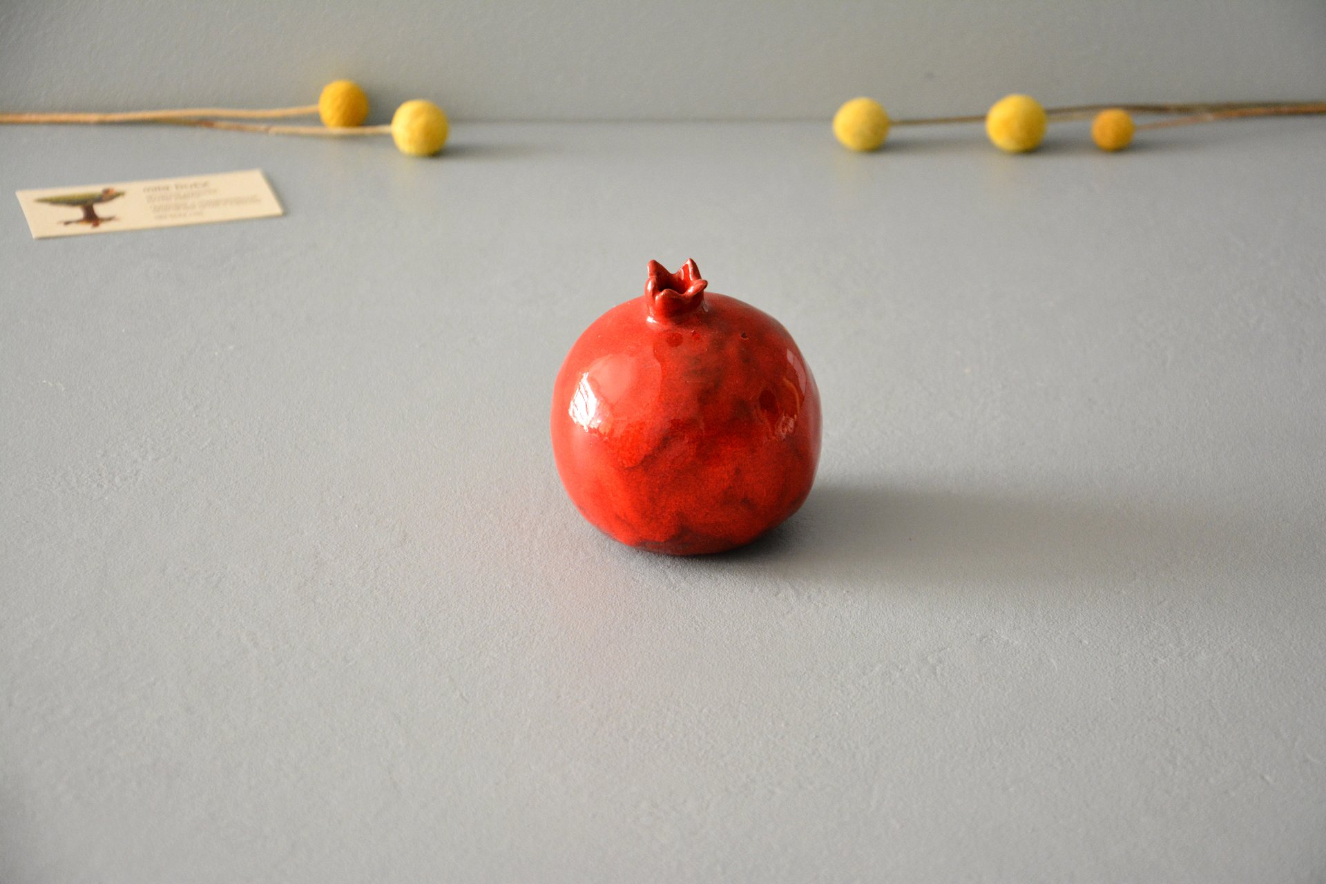 Ceramic Pomegranate red, height - 9,5 cm, photo 1 of 4.