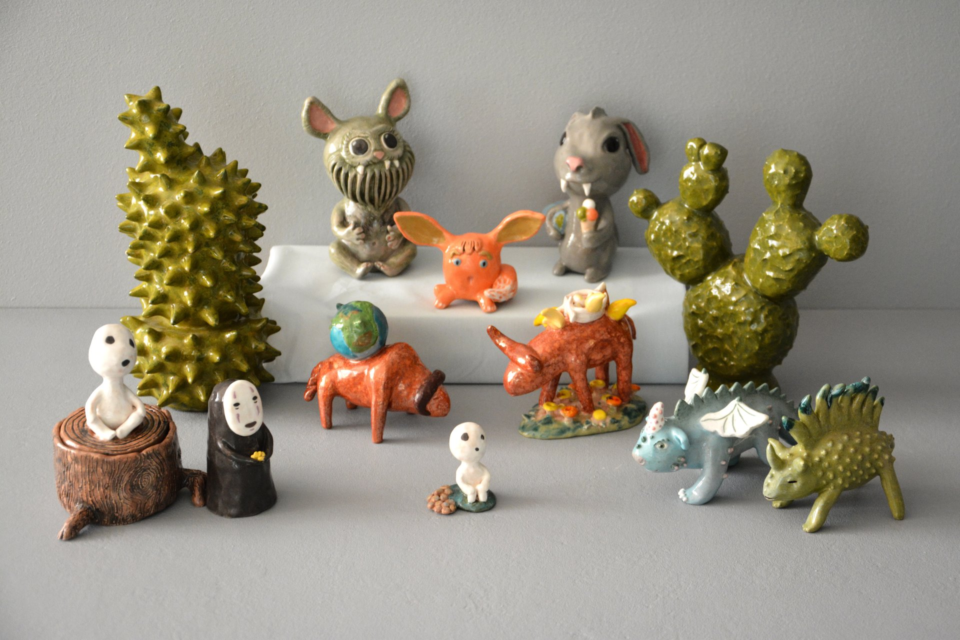 Ceramic handmade figurines