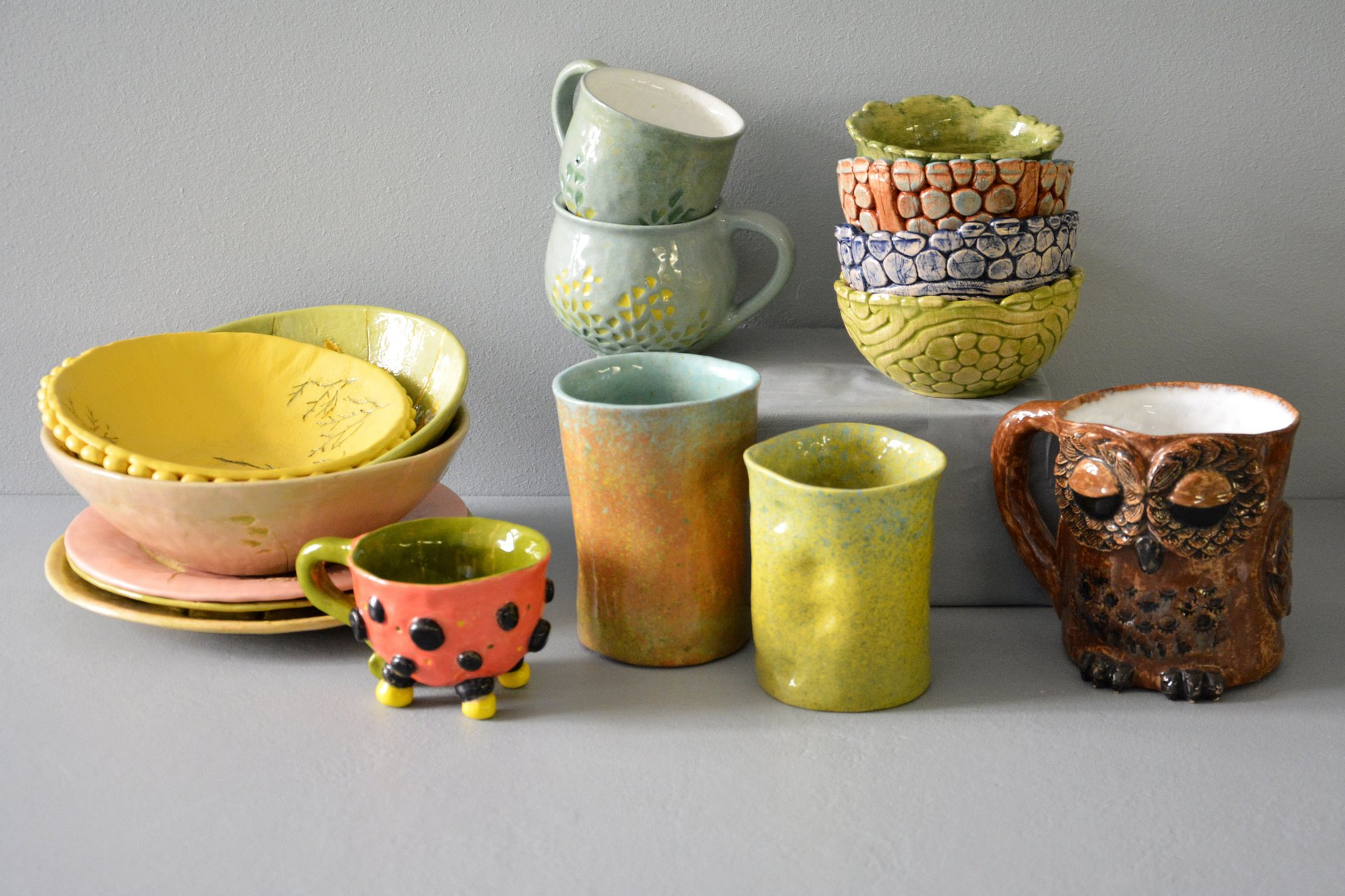 Author's original ceramic hand-made dishes