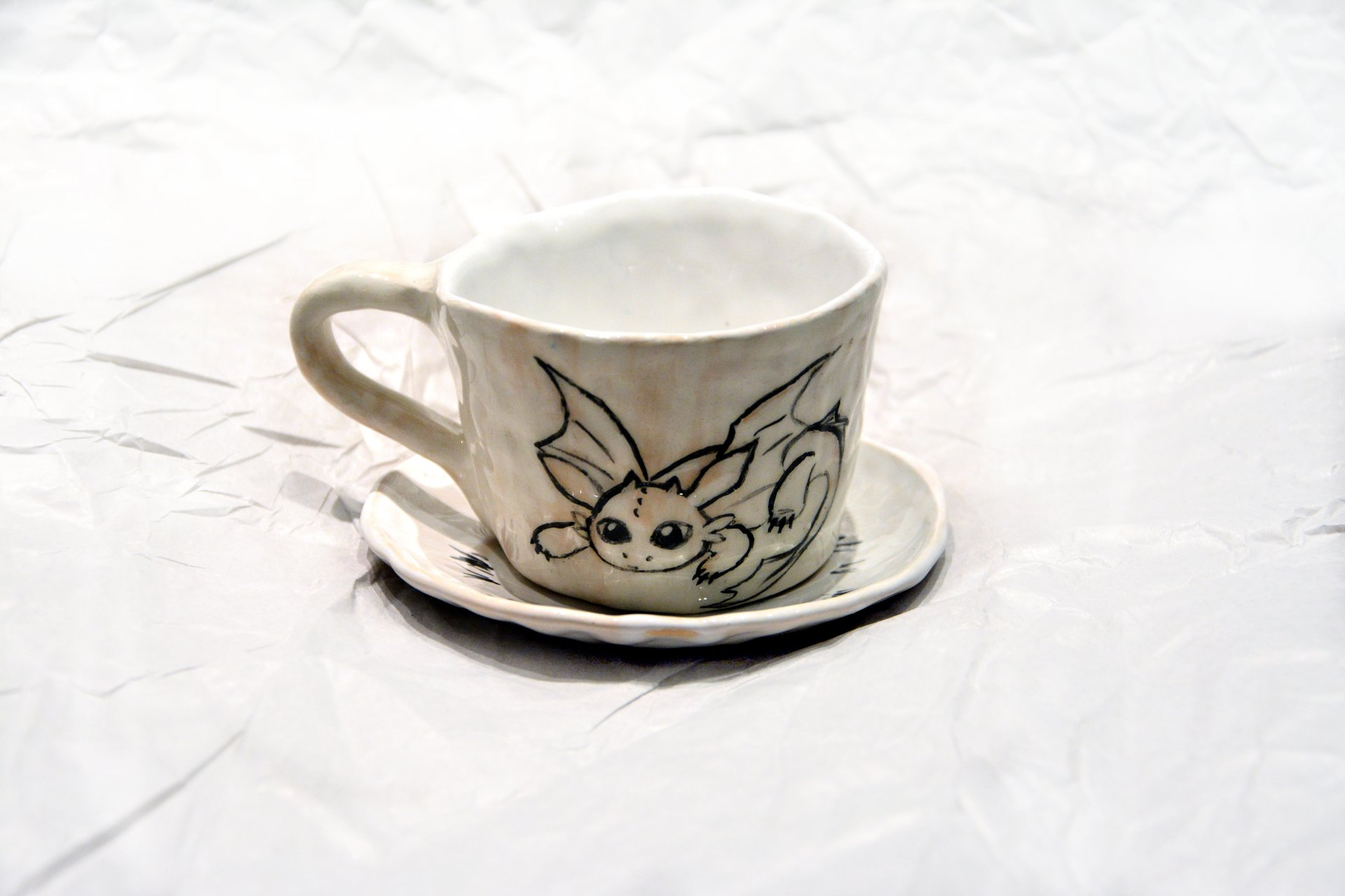 A cup with the Toothless - Cups, glasses, mugs, 80 ml, photo 2 of 3.