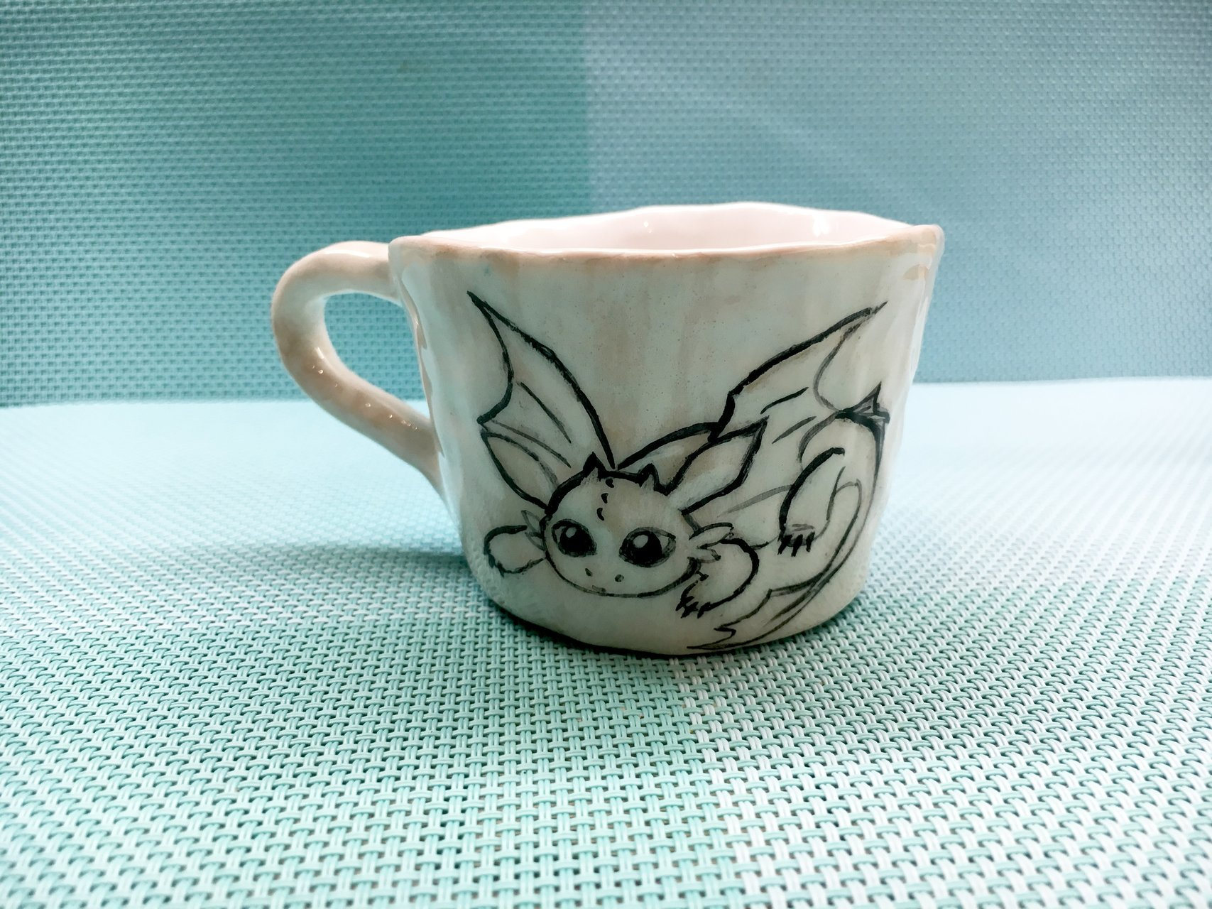 A cup with the Toothless - Cups, glasses, mugs, 80 ml, photo 3 of 3.