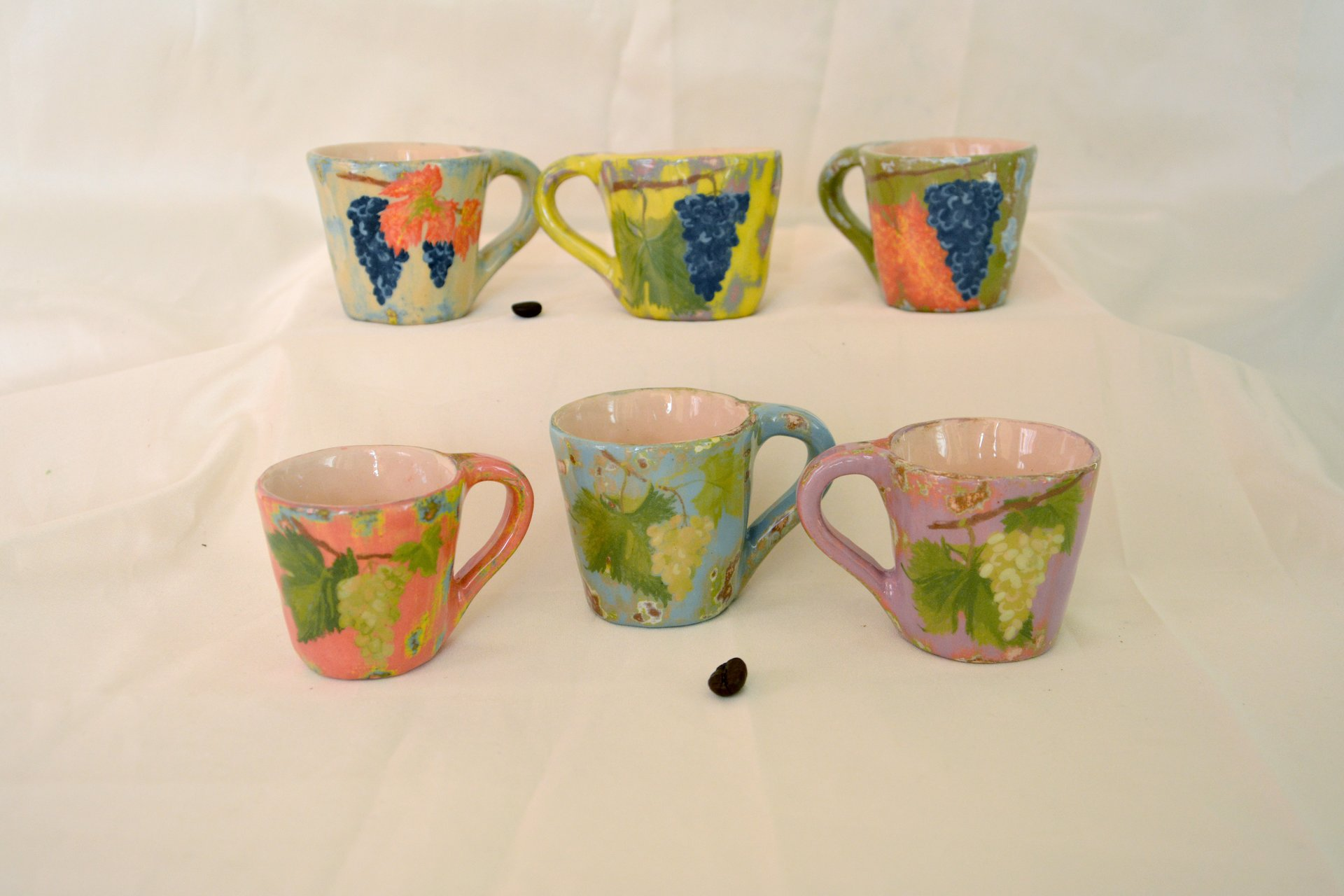 A set of coffee cups Bunch of grapes - Cups, glasses, mugs, height - 6 cm, volume - 100 ml, photo 1 of 1.