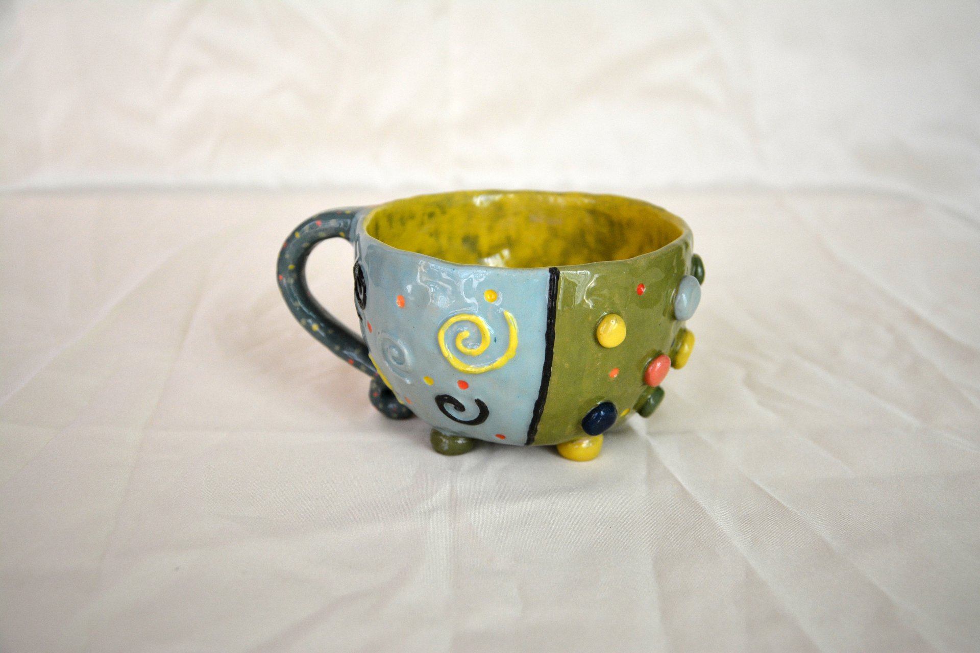 Bright color mug - Cups, glasses, mugs, height - 9 cm, volume - 350 ml, photo 2 of 3.