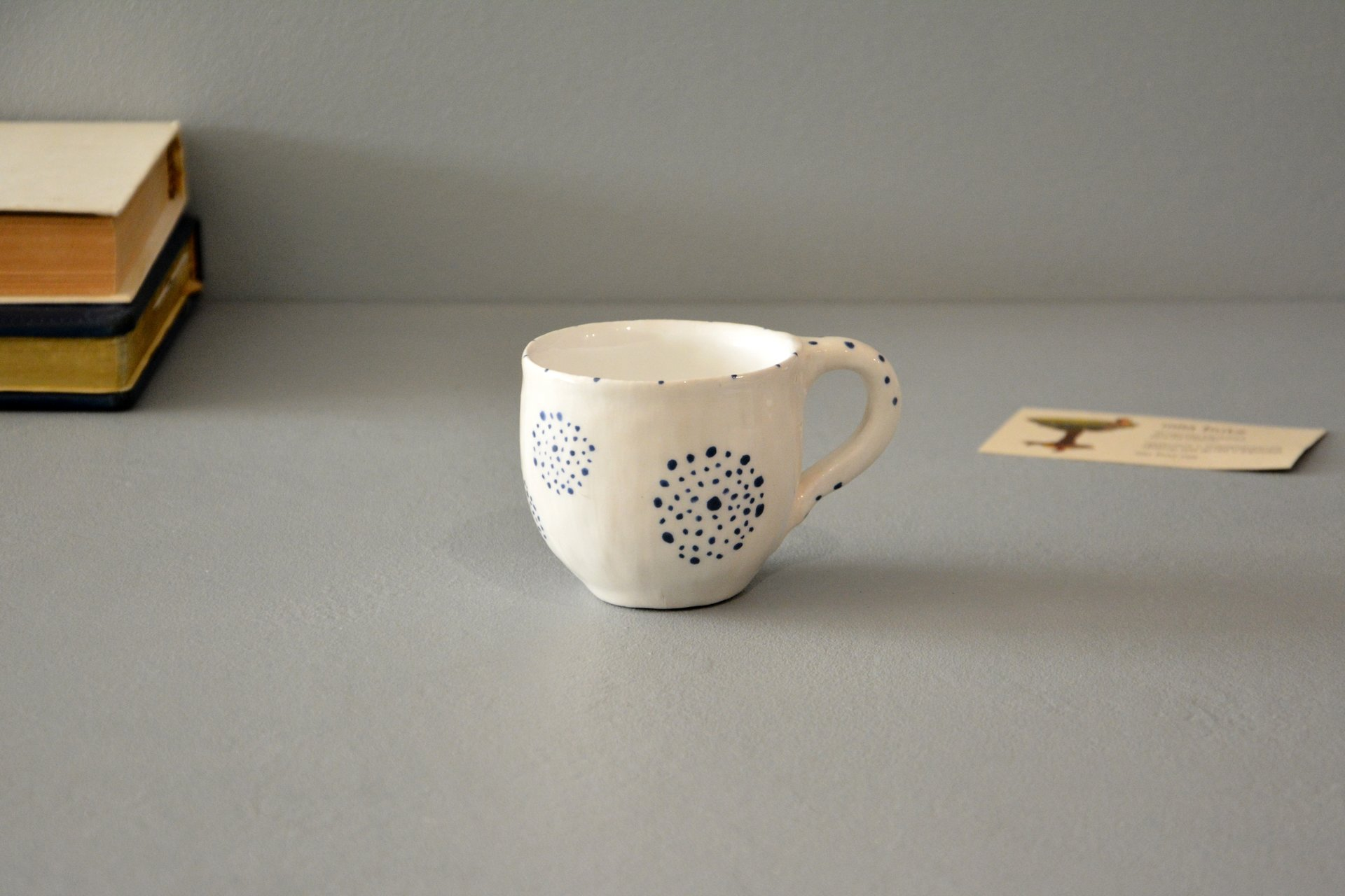 Ceramic white handmade cup for espresso, 150 ml, photo 1 of 4.