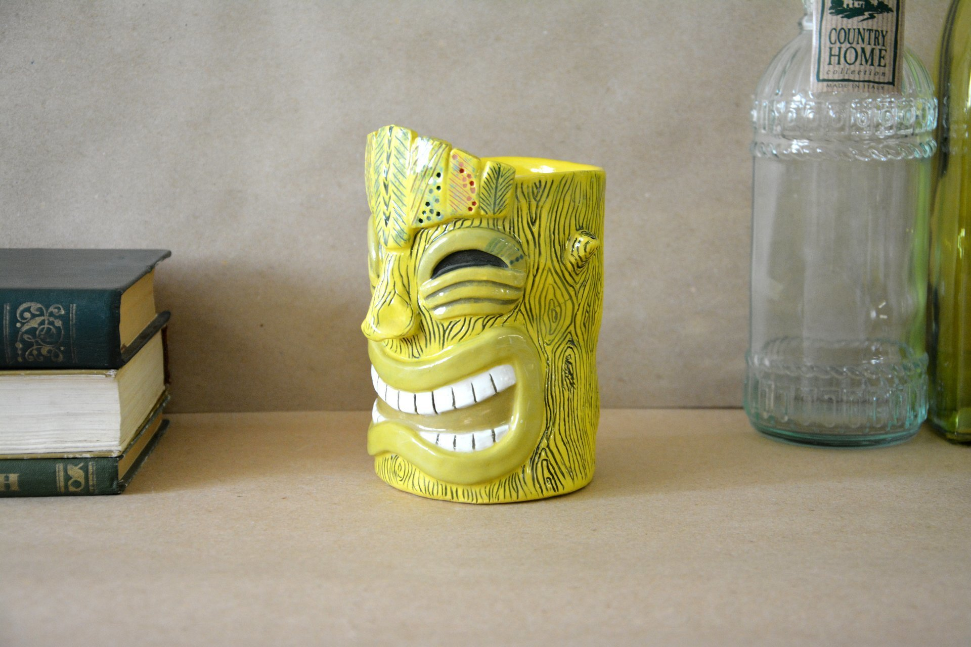 Glass of Tiki yellow big, height - 14 cm, volume - 0,6 l, photo 5 of 7.