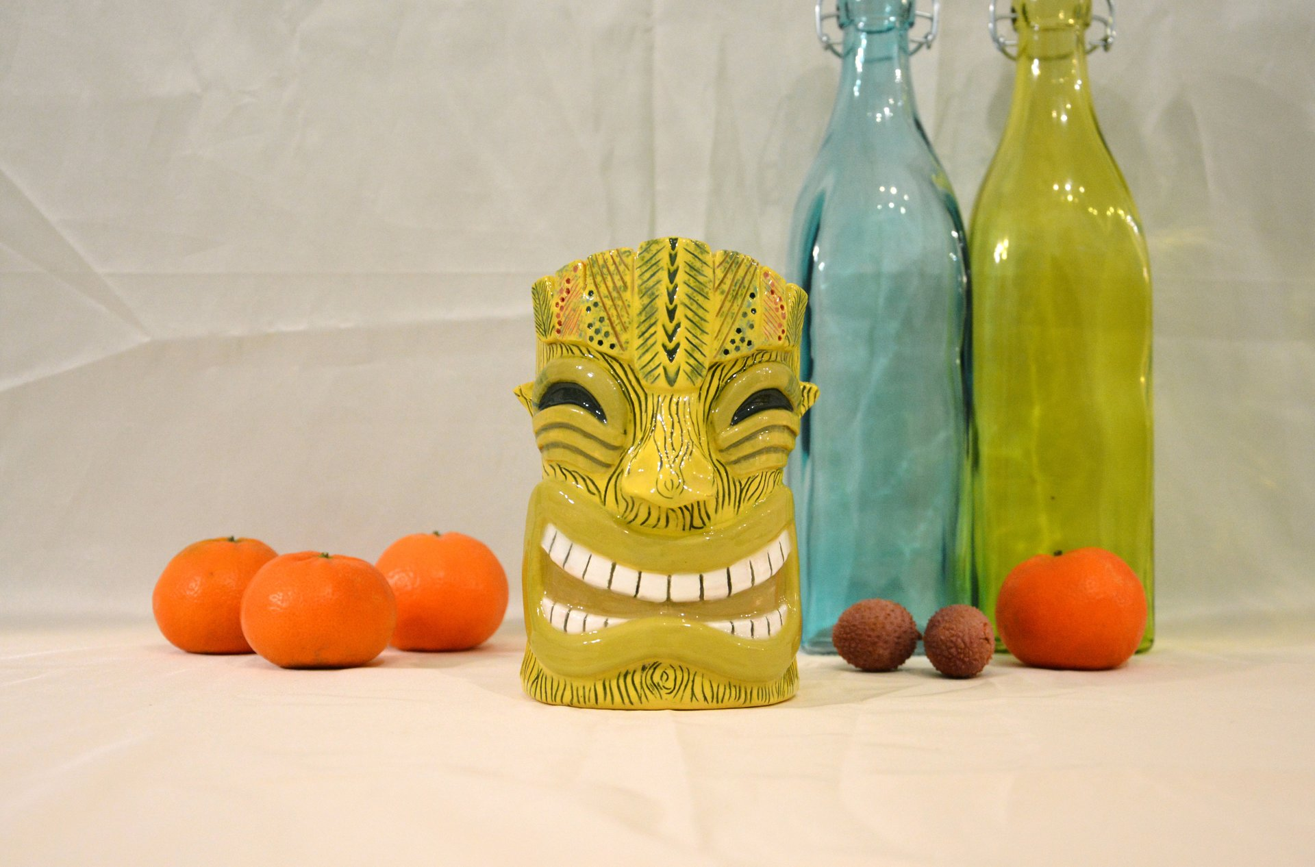 Glass of Tiki yellow big, height - 14 cm, volume - 0,6 l, photo 7 of 7.