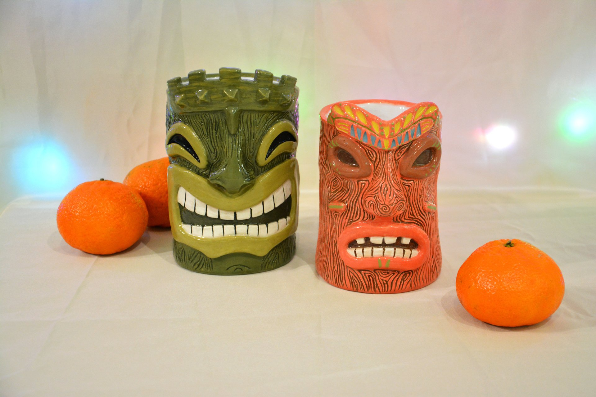 Huge Tiki Glass, color- green, height - 14 cm, volume - 0,7 l, photo 5 of 5.