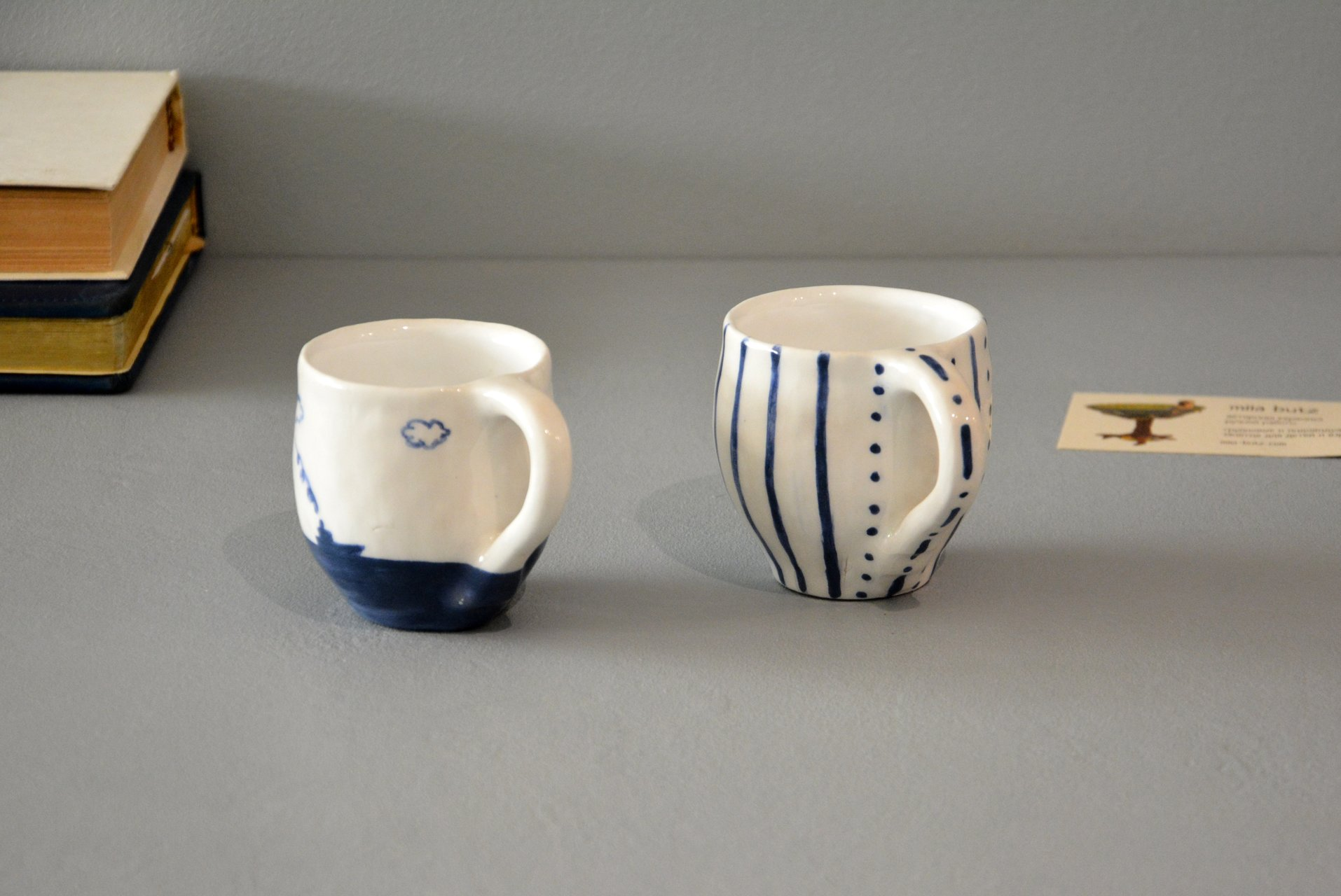 Pair of white cups for espresso, 100 ml and 150 ml, photo 2 of 5.