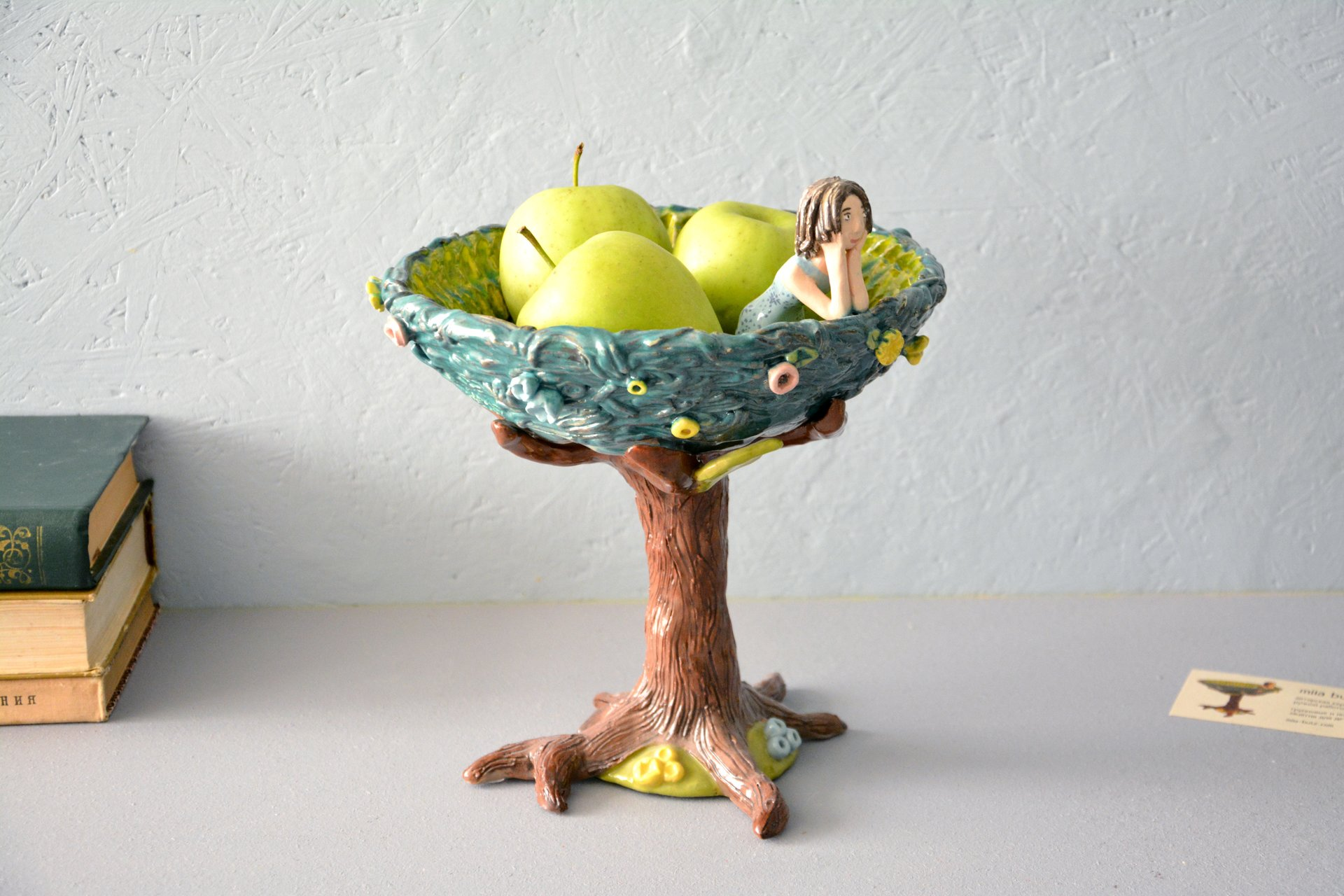 Vase for fruits, height - 21.5 cm, diameter - 21.5 cm, photo 1 of 3.