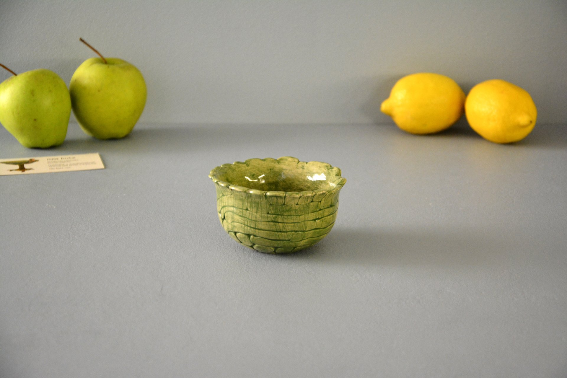 Green patina - Pialy and sauceboats, height - 5,5 cm, diameter - 10 cm, photo 3 of 3.