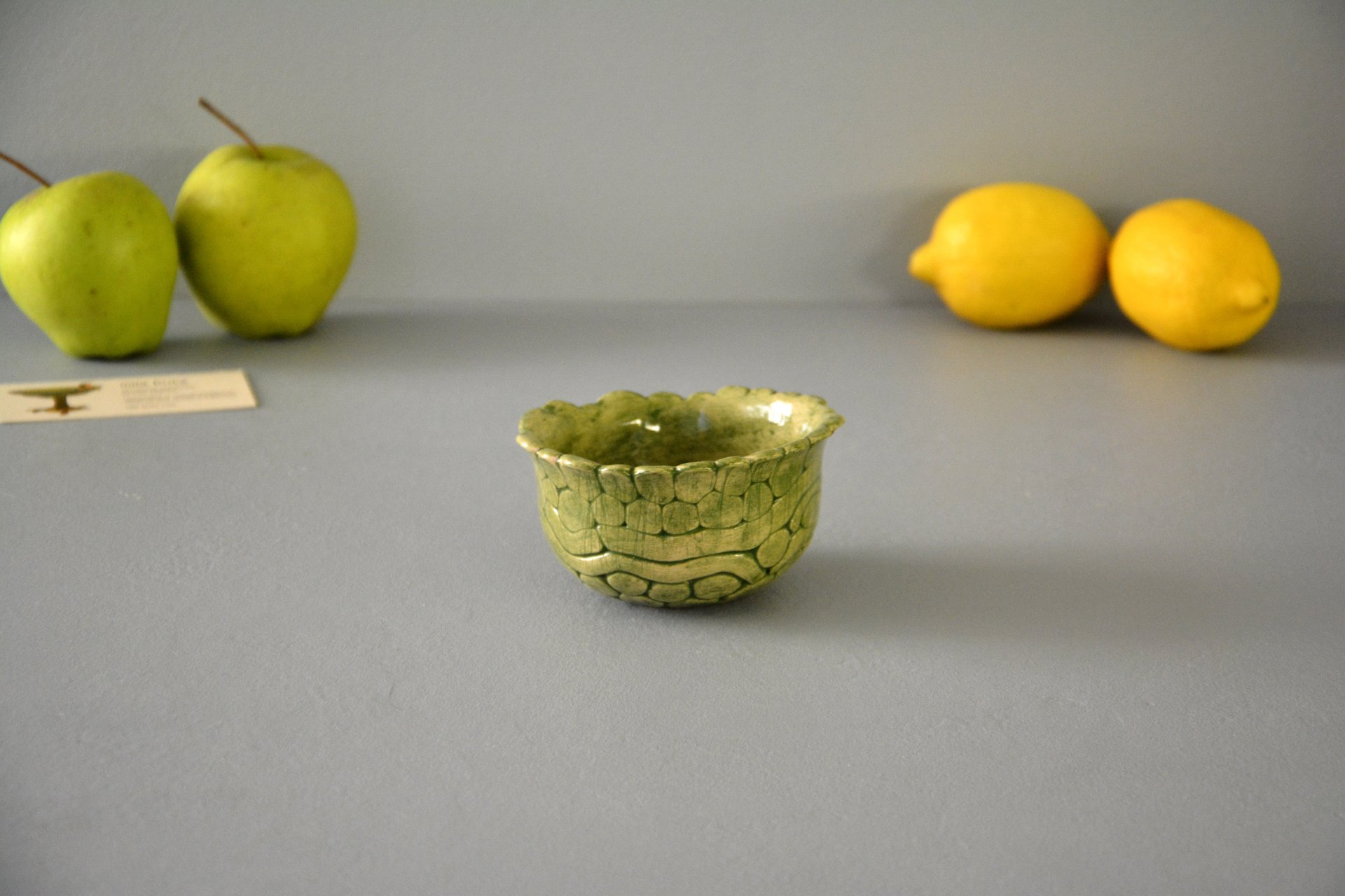 Green patina - Pialy and sauceboats, height - 5,5 cm, diameter - 10 cm, photo 2 of 3.