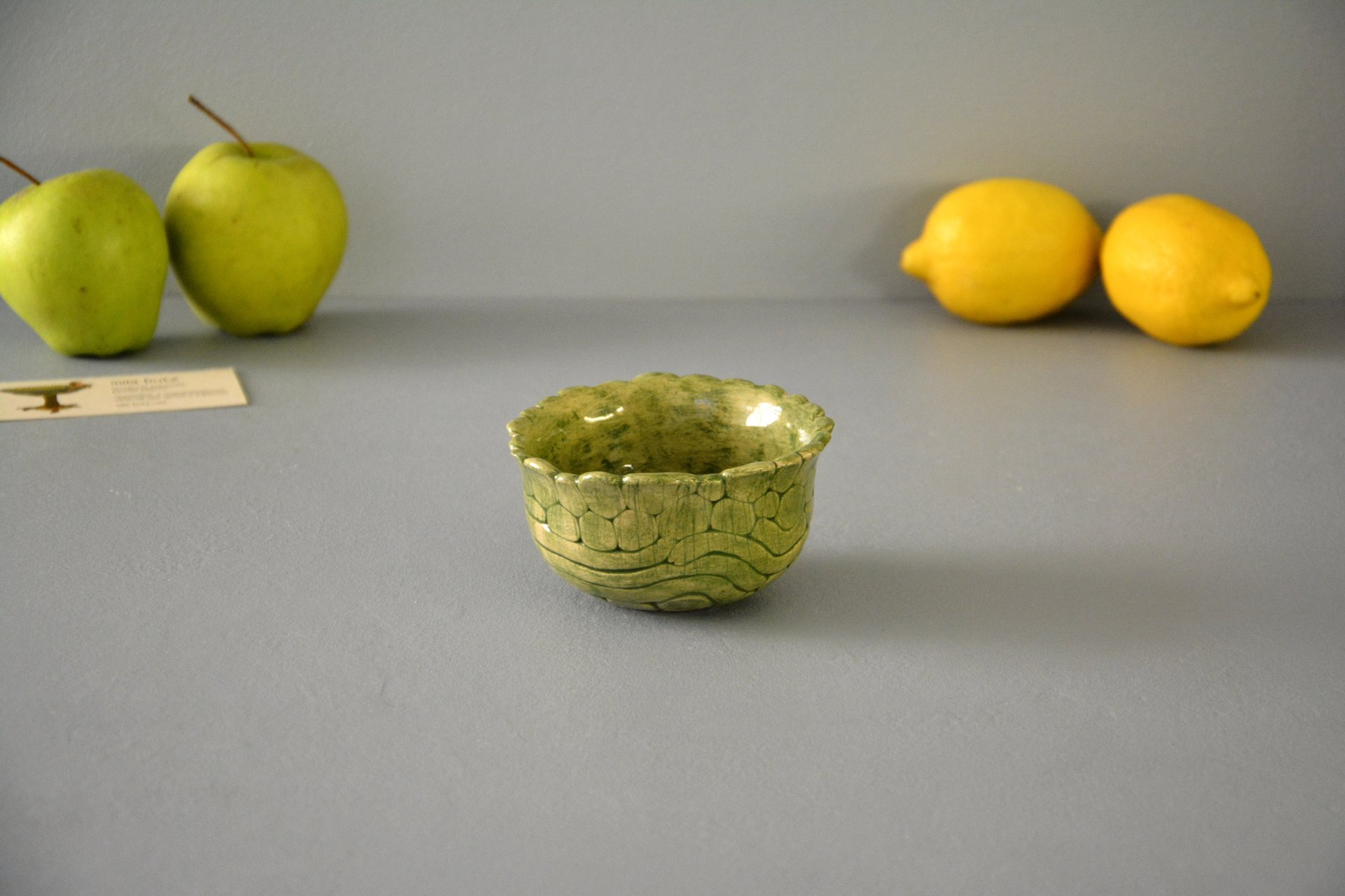Green patina - Pialy and sauceboats, height - 5,5 cm, diameter - 10 cm, photo 1 of 3.